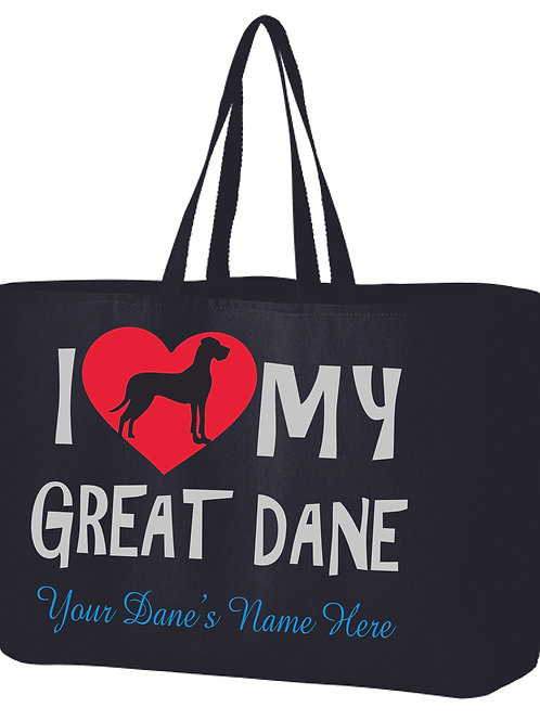 Glitter Tote Bag with Name