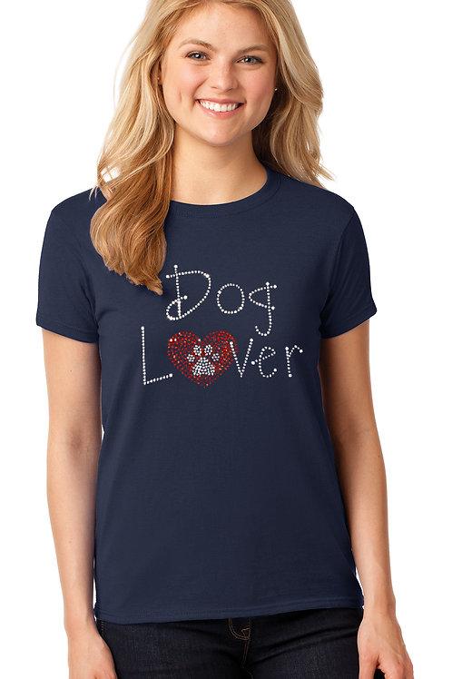 Rhinestone Dog Lover Tee