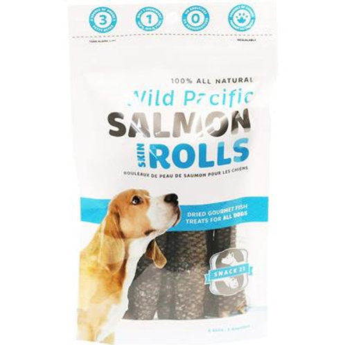 Salmon Skin Rolls (6 rolls/bag) by Snack 21