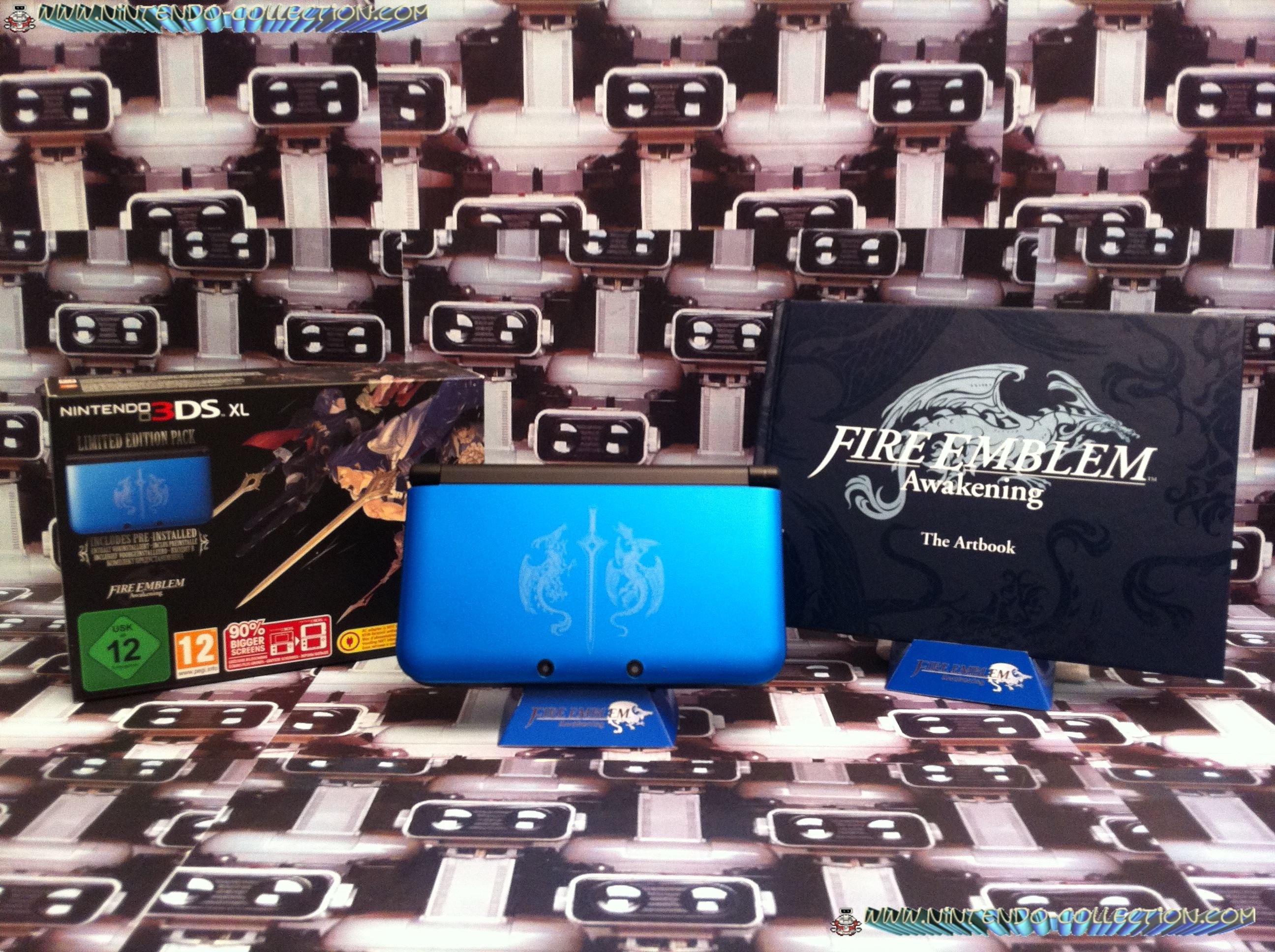 www.nintendo-collection.com - Nintendo 3DS XL LL Fire Emblem edition collector + Artbook