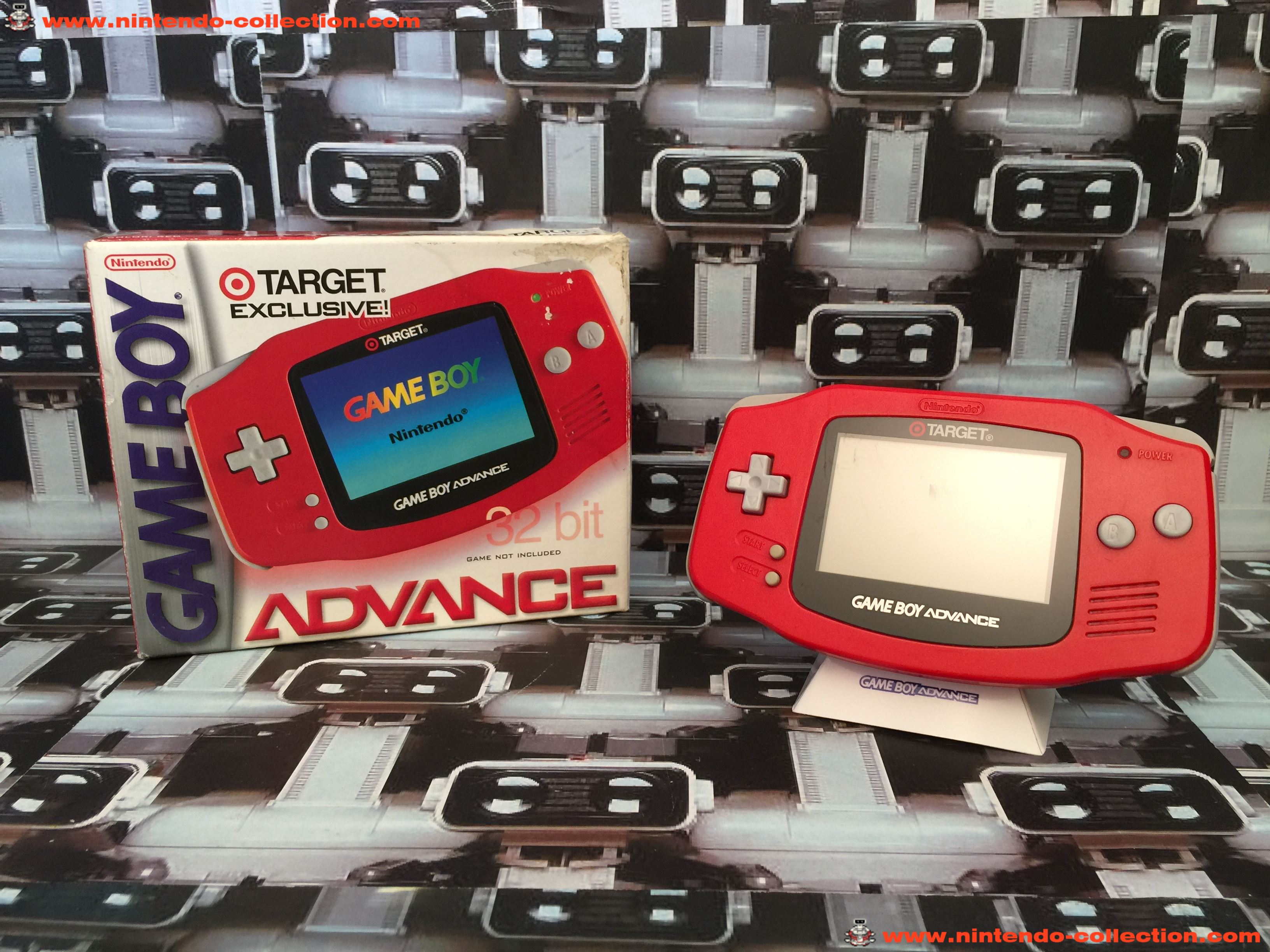 www.nintendo-collection.com - Gameboy Advance GBA Red Rouge Target Limited Edition US Americaine