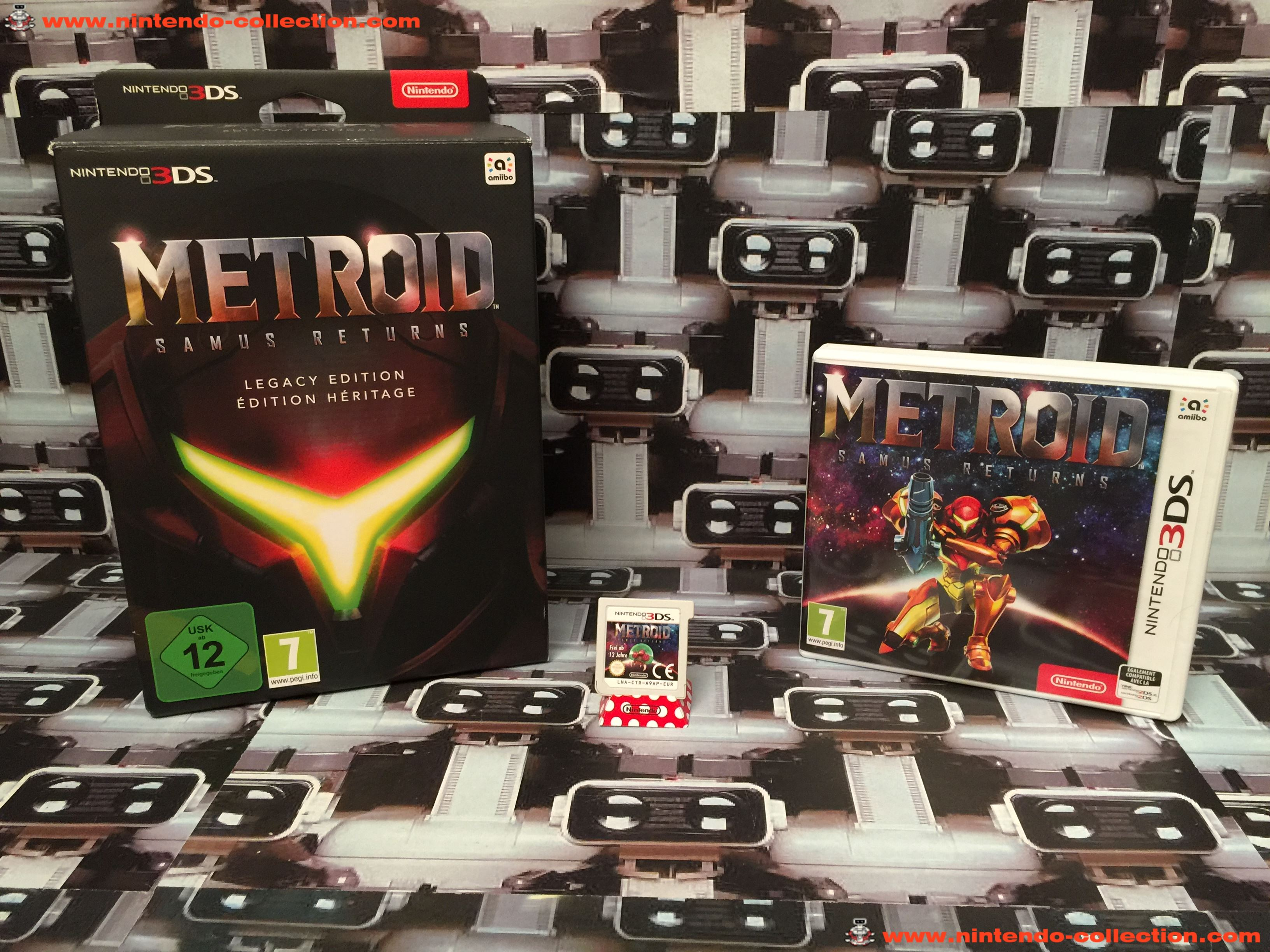 www.nintendo-collection.com - Nintendo 3DS Jeux Game Collector pack Metroid Samus Return