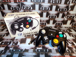 www.nintendo-collection.com - Gamecube controller manette blacke noir en boite in box