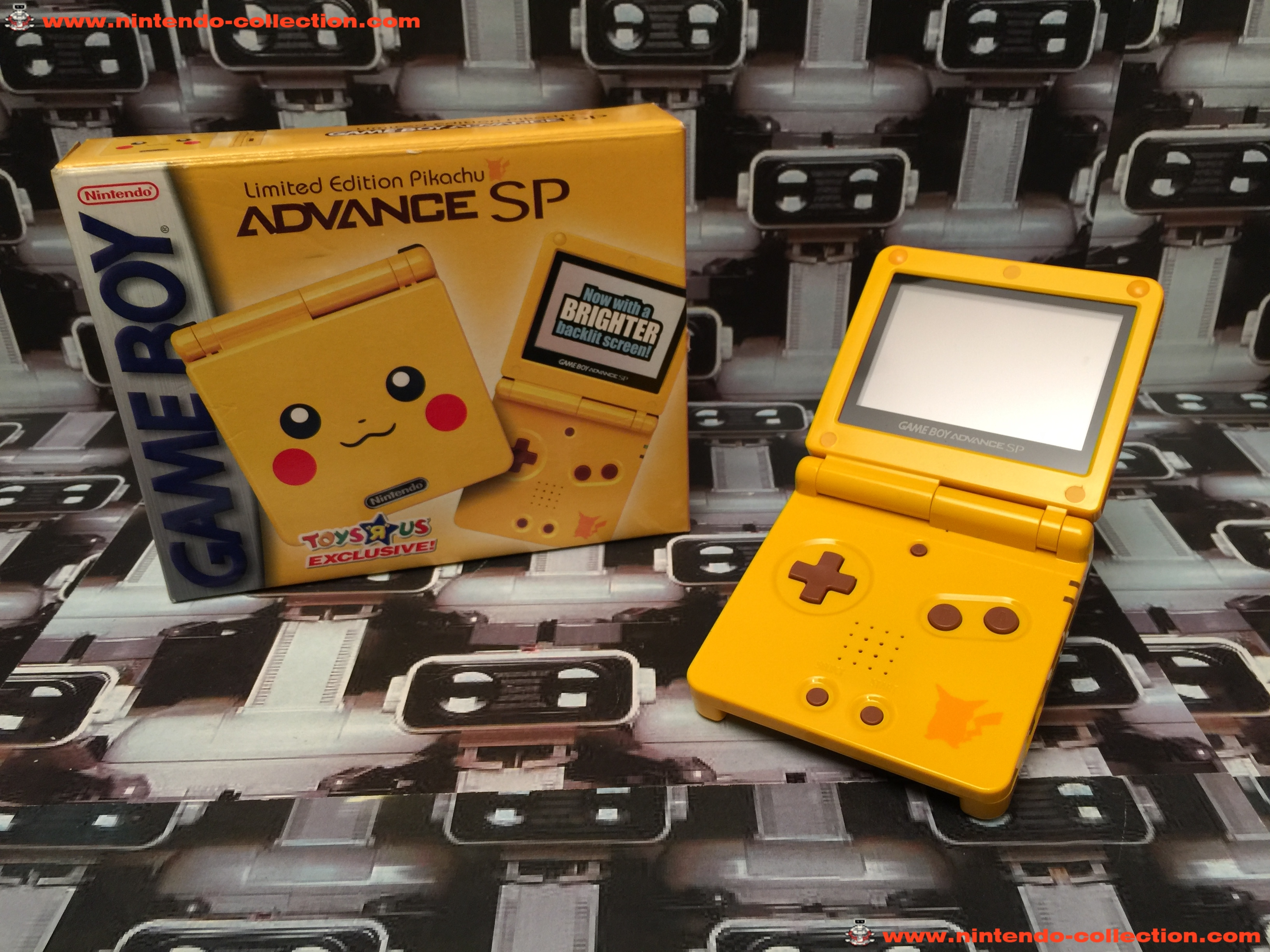 www.nintendo-collection.com - Gameboy Advance GBA SP Pikachu Limited Edition Toy R US ToyRus Exclusi