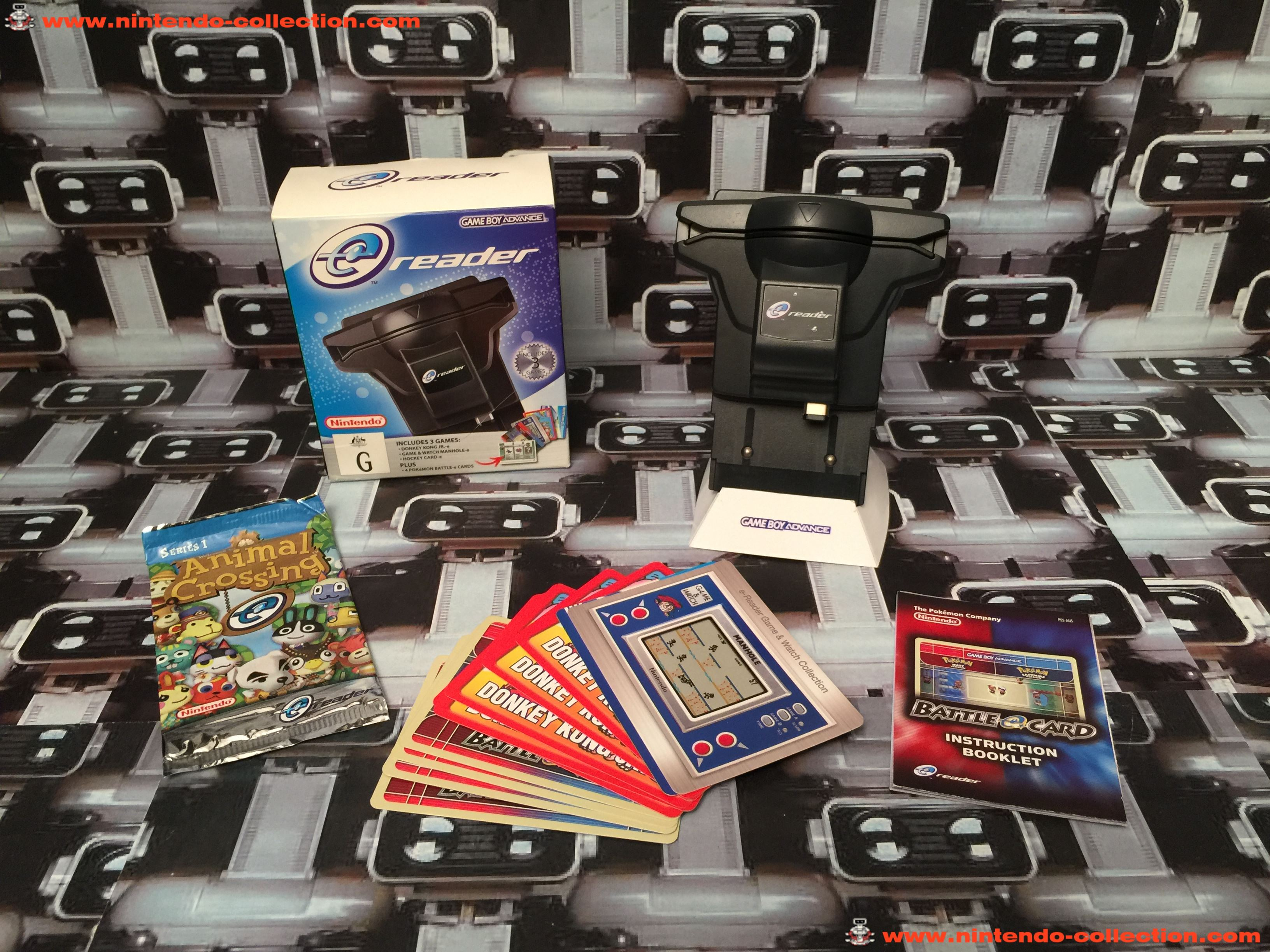 www.nintendo-collection.com - Gameboy Advance GBA Ereader E Reader Version Australian Australie Aust