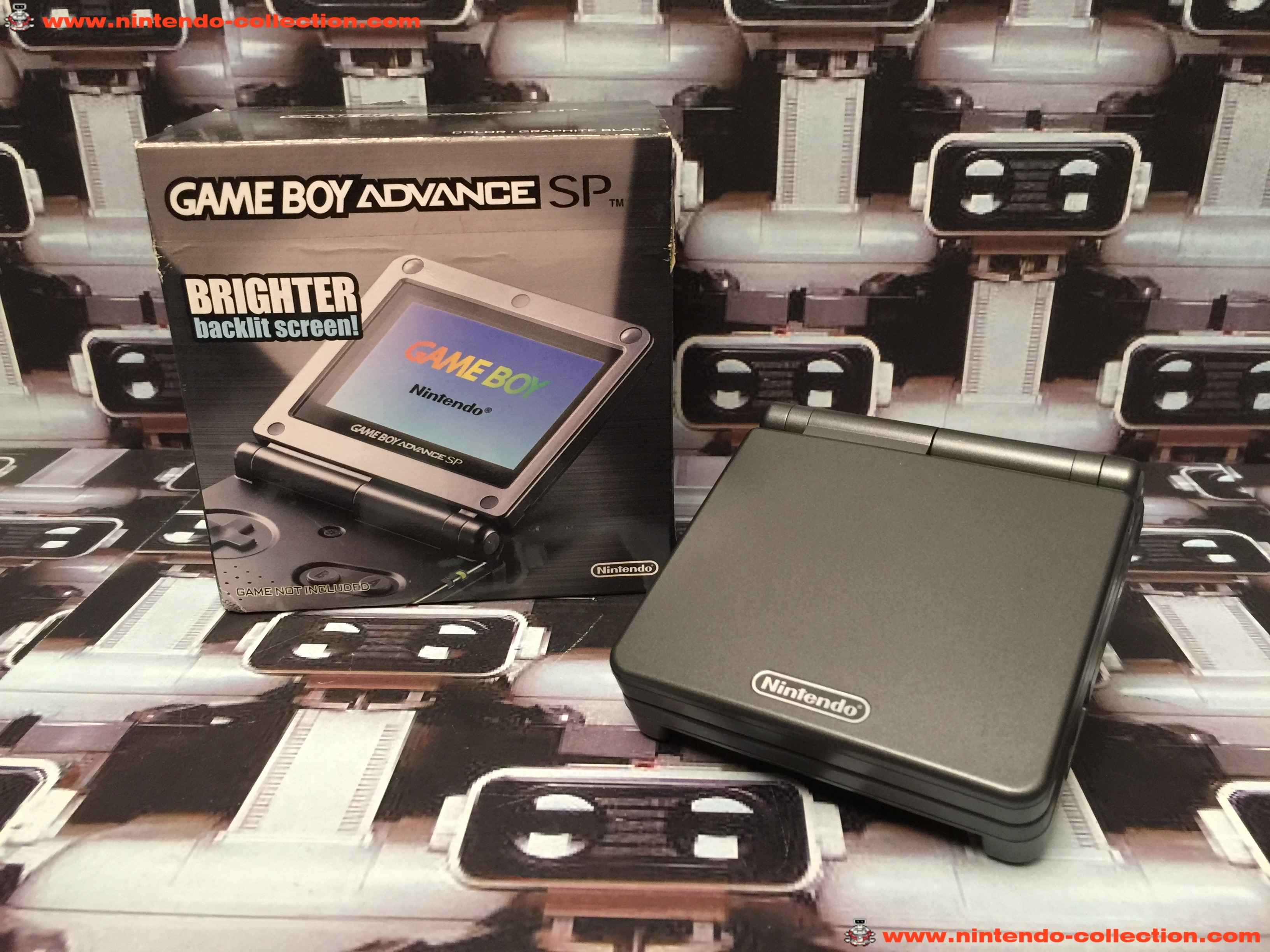 www.nintendo-collection.com - Gameboy Advance GBA SP Onyx Black Onyx Noir edition Hong Kong - 01