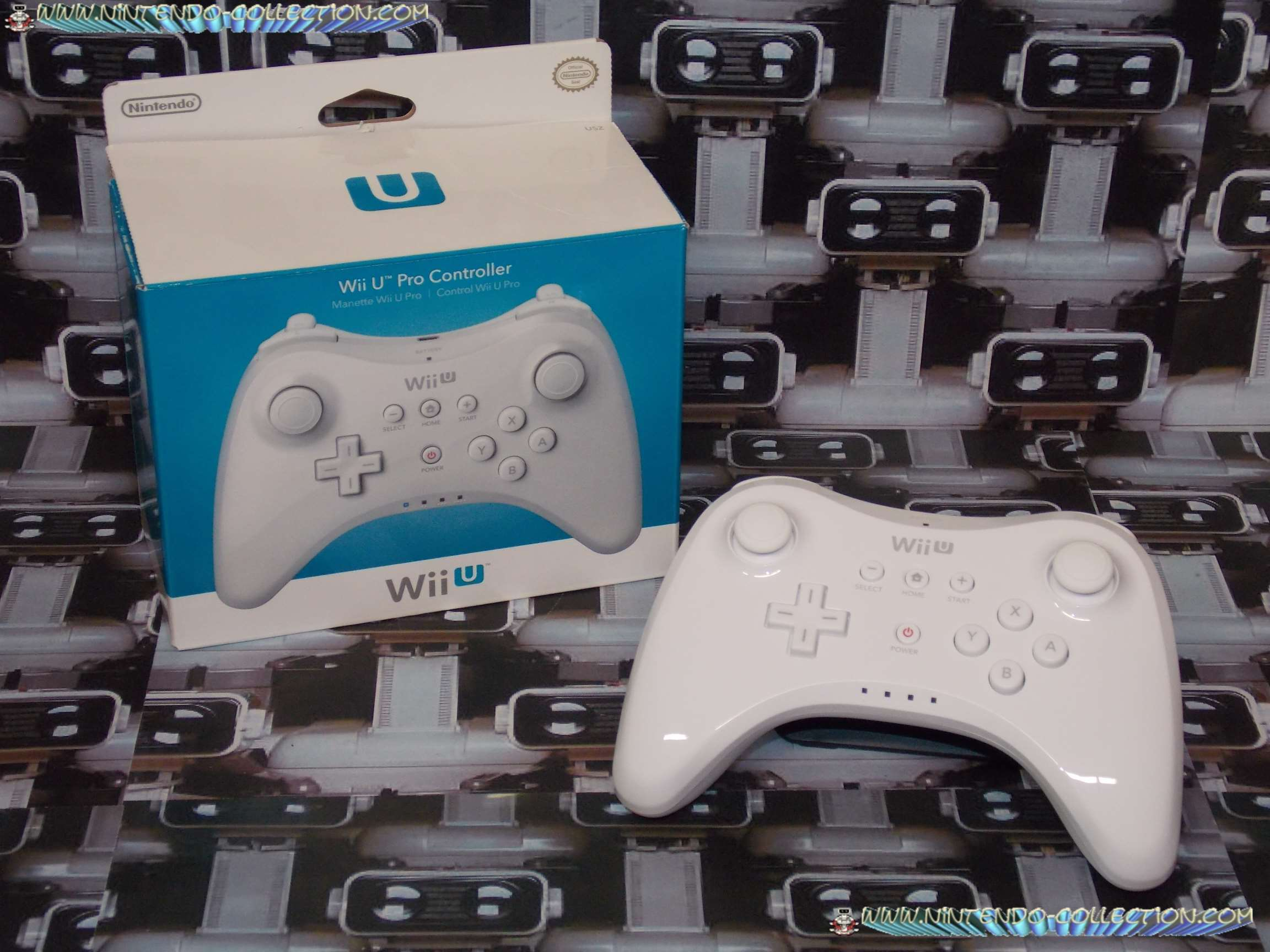 www.nintendo-collection.com - Wii U Pro Controller Manette White Blanc US