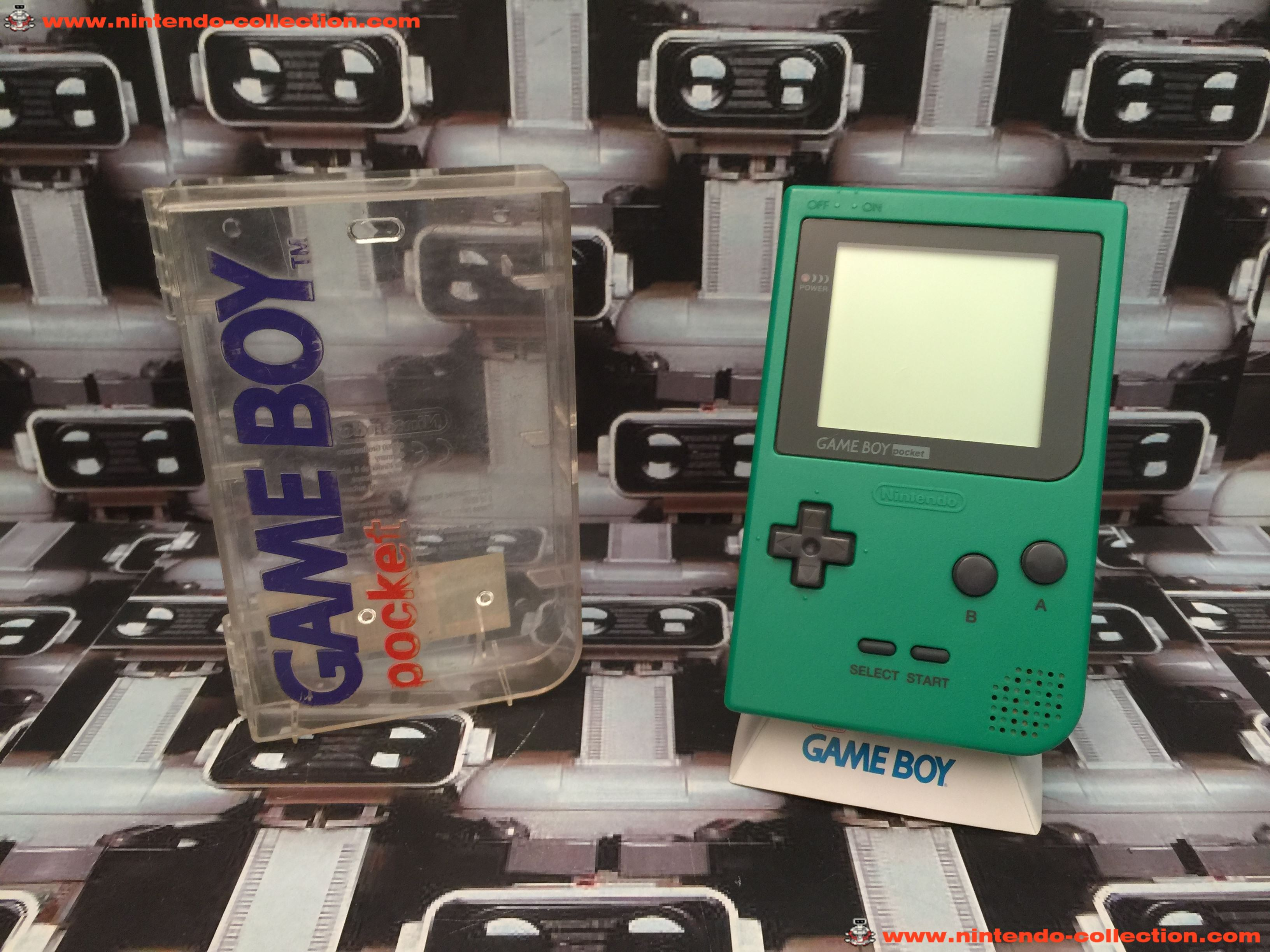 www.nintendo-collection.com - Gameboy Pocket GB Green Vert Crystal Box - 01