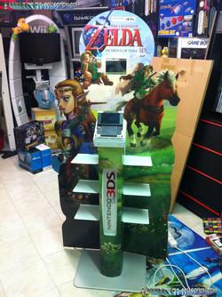 www.nintendo-collection.com - Borne 3DS XL LL Version Zelda - 3DS XL LL Demo store display kiosk Zel