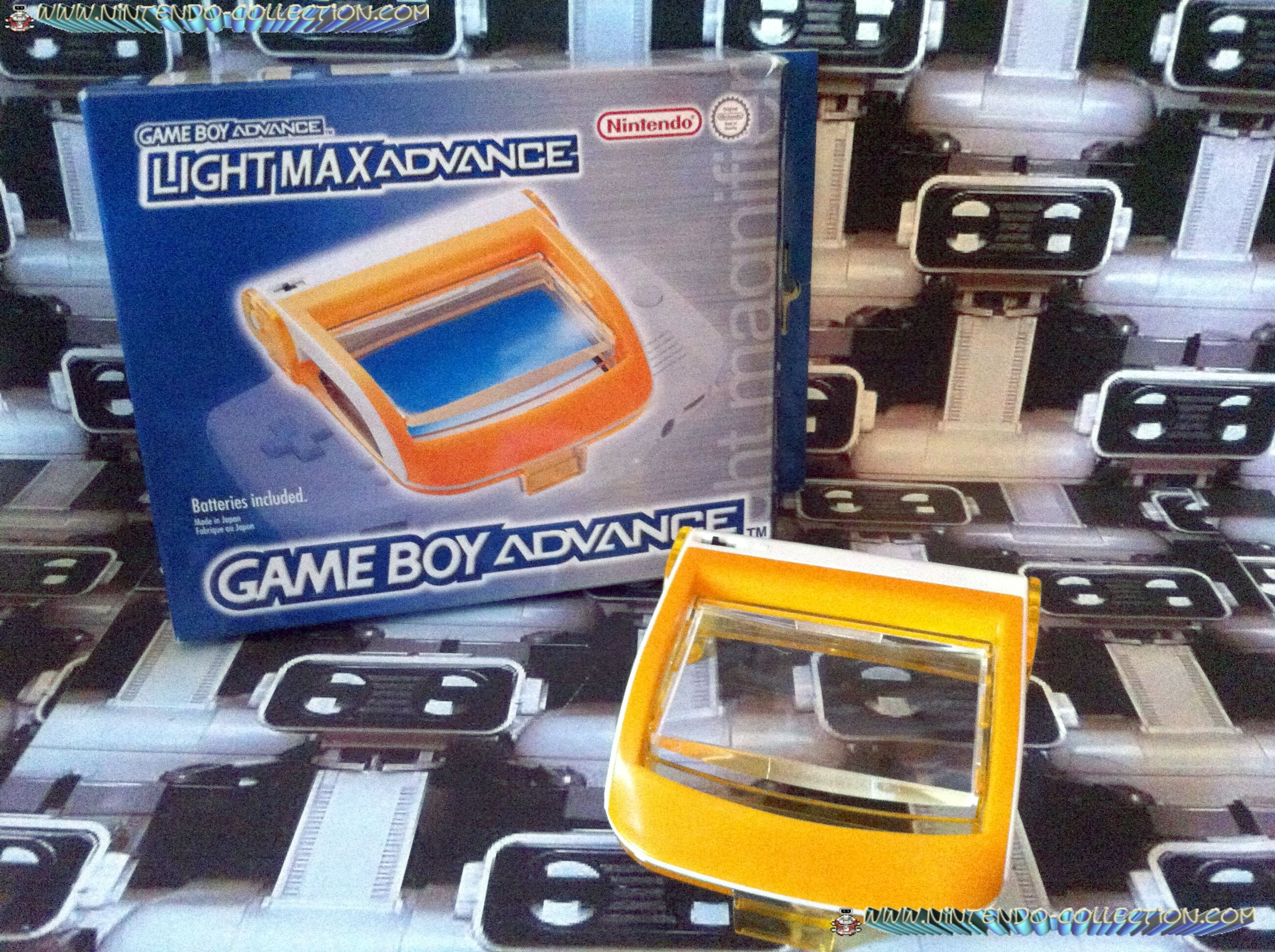 www.nintendo-collection.com - Gameboy Advance SP Accessory Accessoire Loupe Light Max Advance