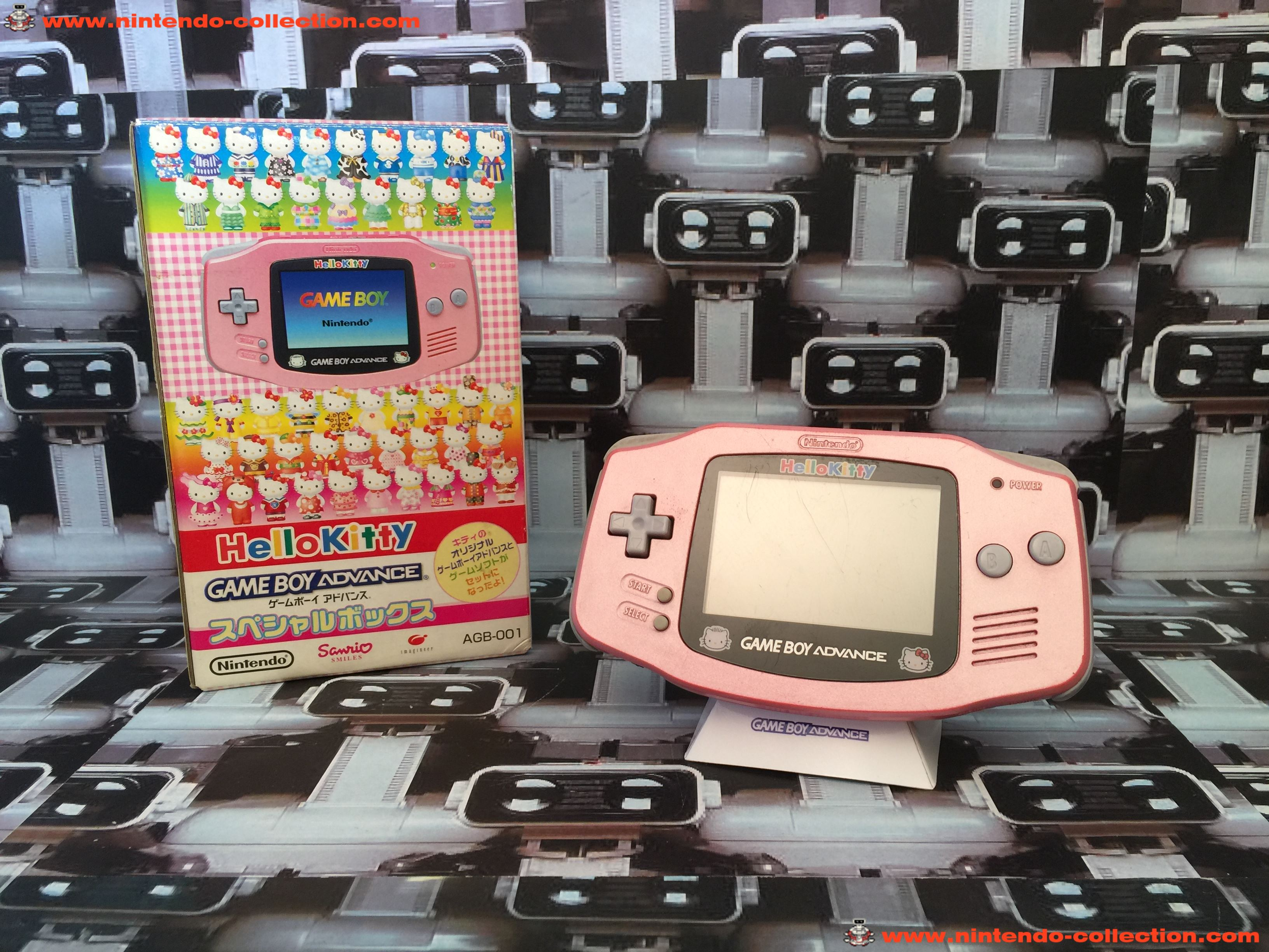 www.nintendo-collection.com - Gameboy Advance GBA Hello Kitty Limited Edition Japanese Japan Japonai