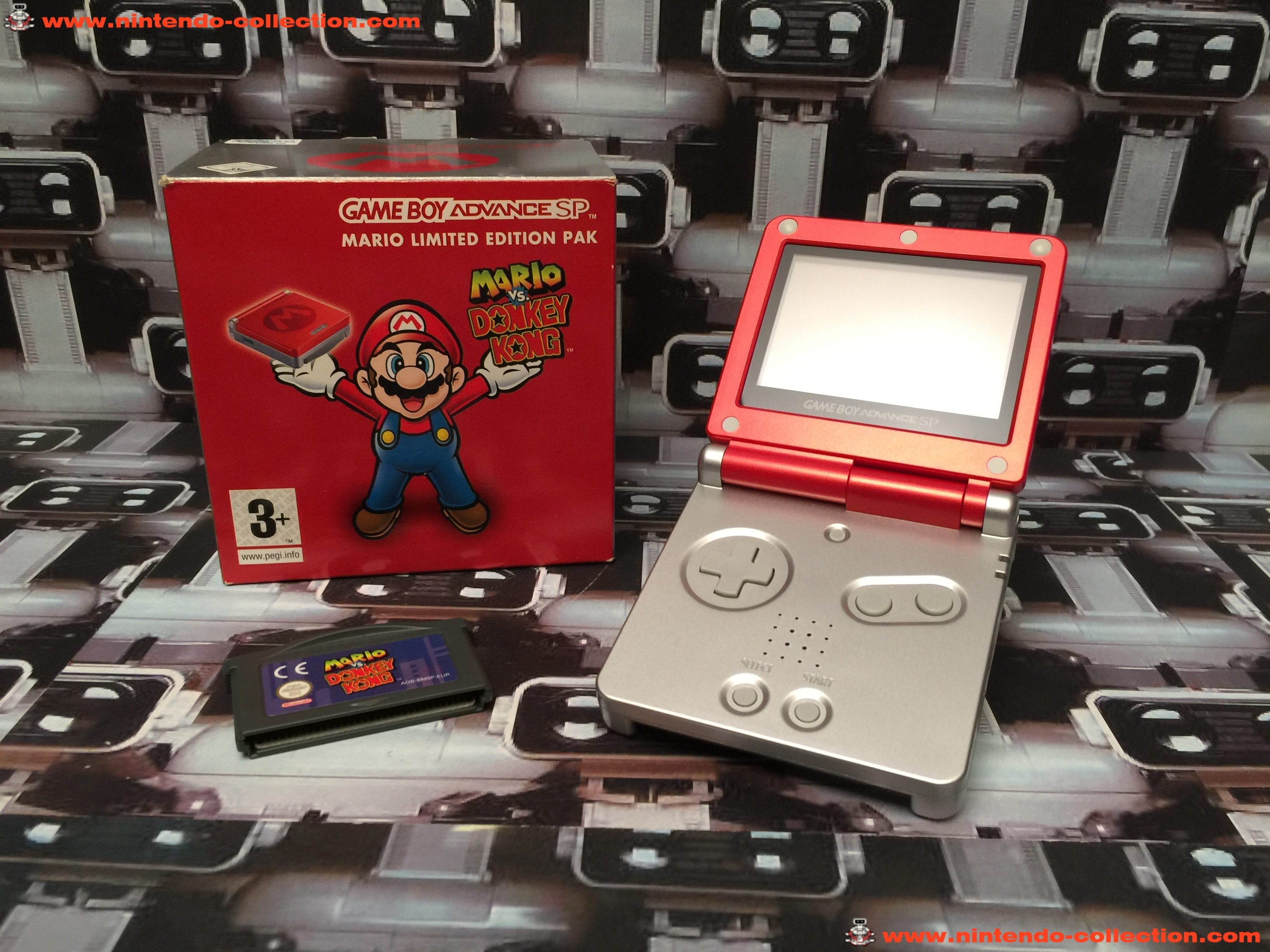 www.nintendo-collection.com - Gameboy Advance GBA SP Mario Limited Edition europeenne european - 02