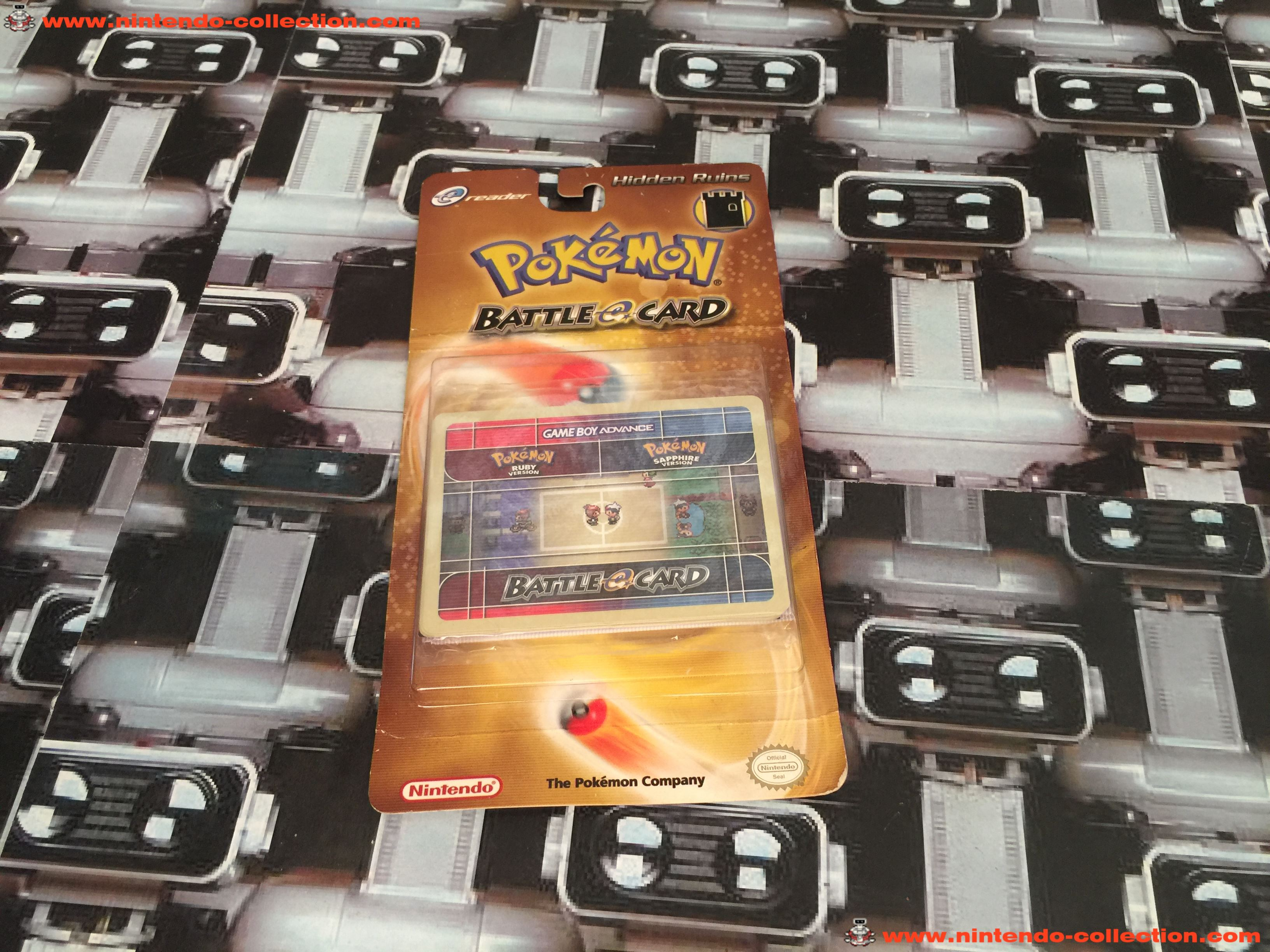 www.nintendo-collection.com - Gameboy Advance GBA Ereader E Reader Card Pack Paquet Carte Pokemon Ba
