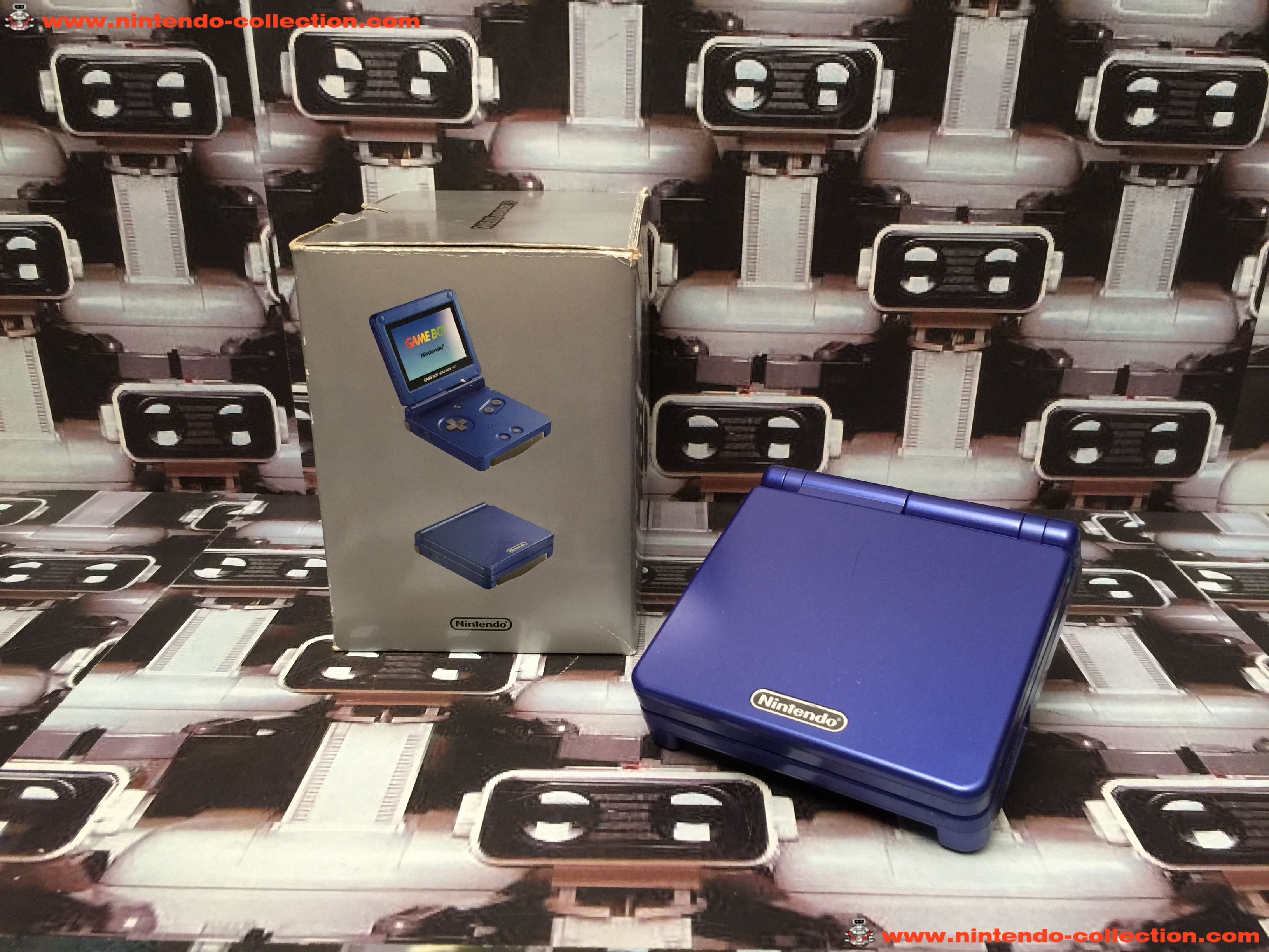 www.nintendo-collection.com - Gameboy Advance GBA SP Blue Bleu Edition europeenne european - 02