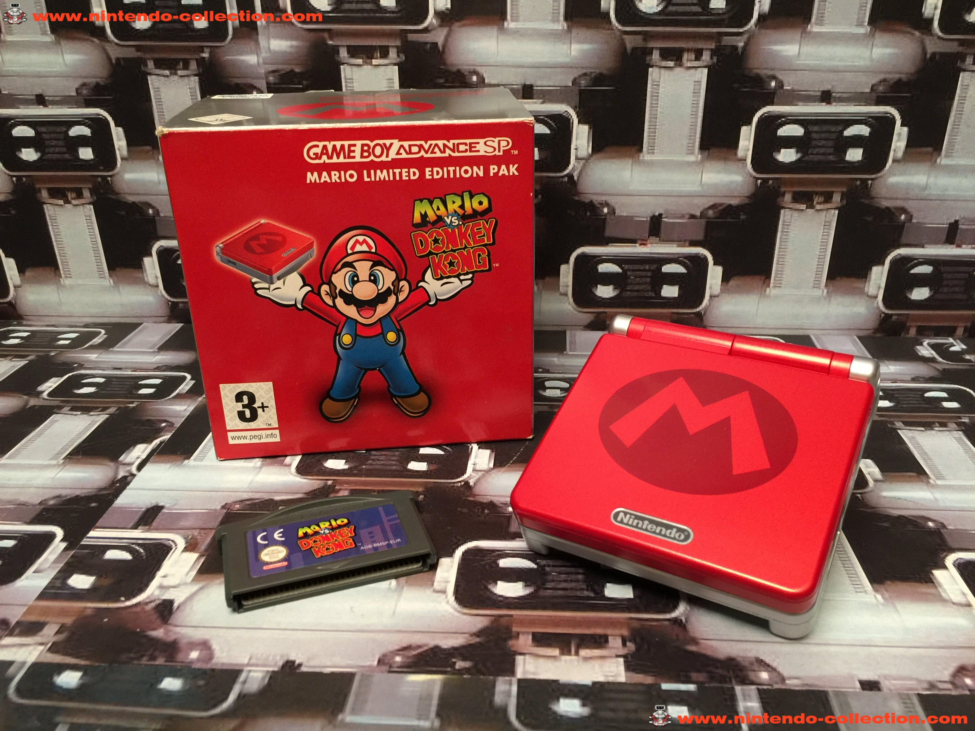 www.nintendo-collection.com - Gameboy Advance GBA SP Mario Limited Edition europeenne european - 01