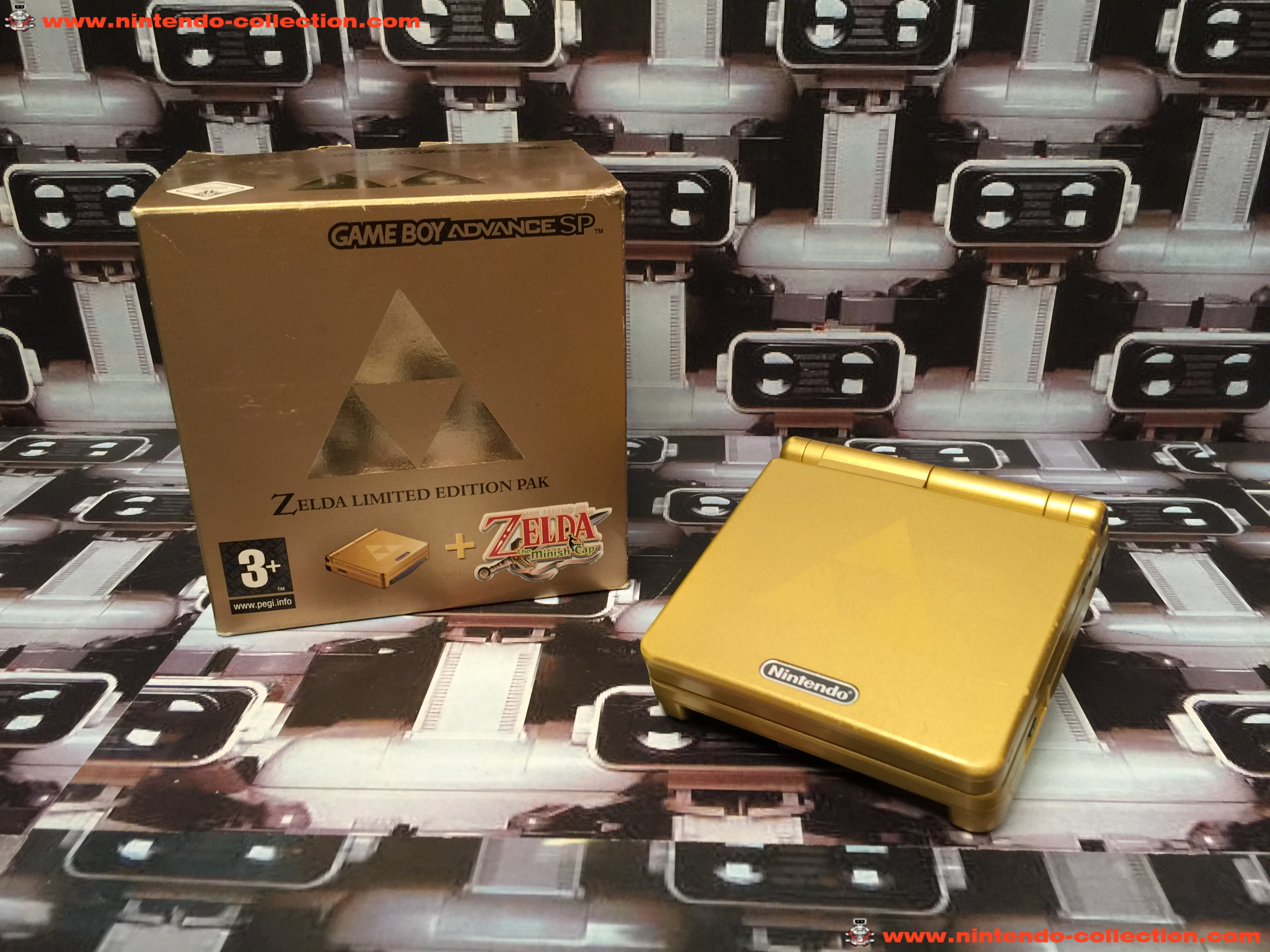 www.nintendo-collection.com - Gameboy Advance GBA SP Zelda Edition europeenne european - 01