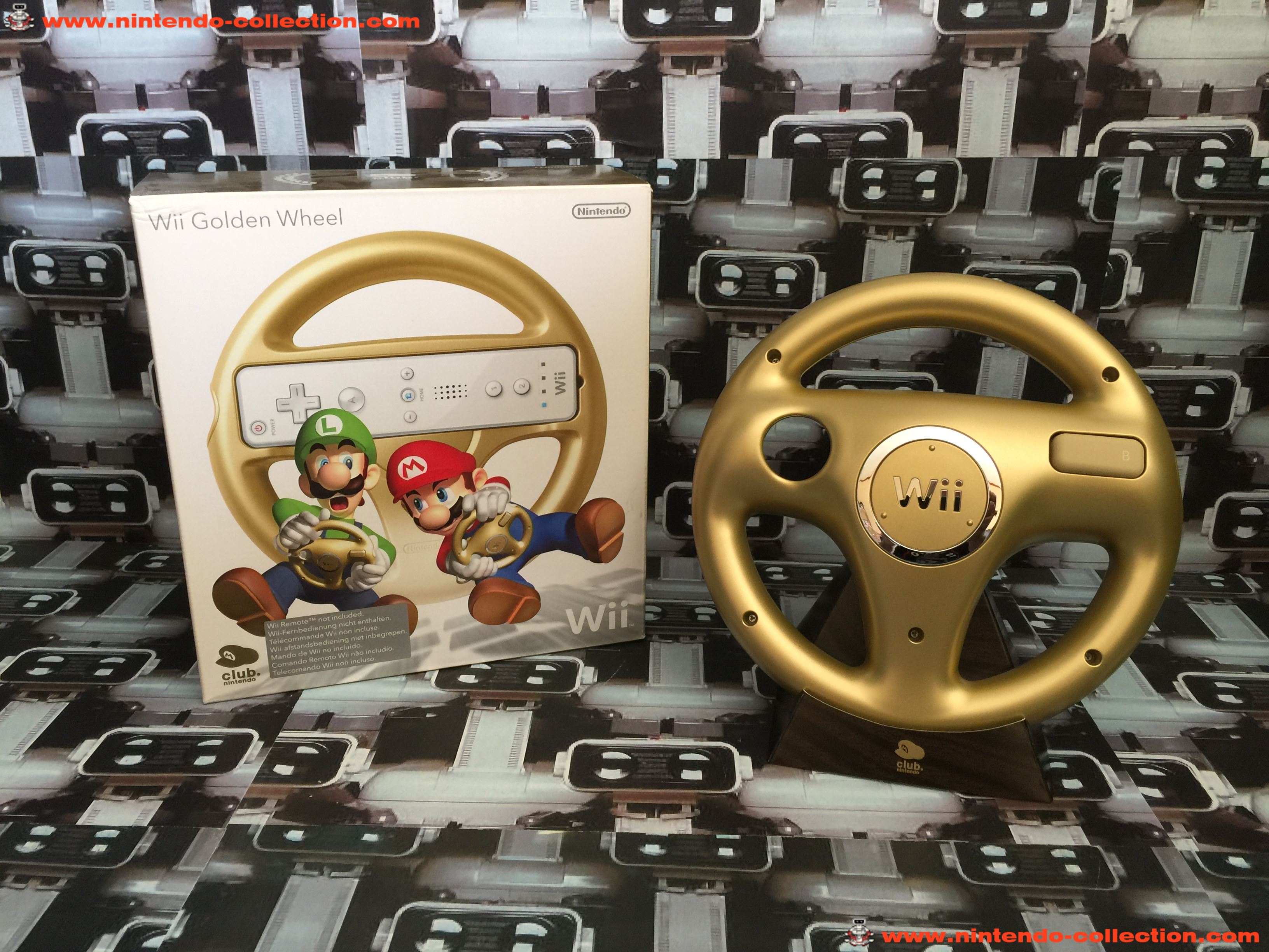 www.nintendo-collection.com - Wii Wheel Gold Or Club Nintendo Limited Edition European version - 01