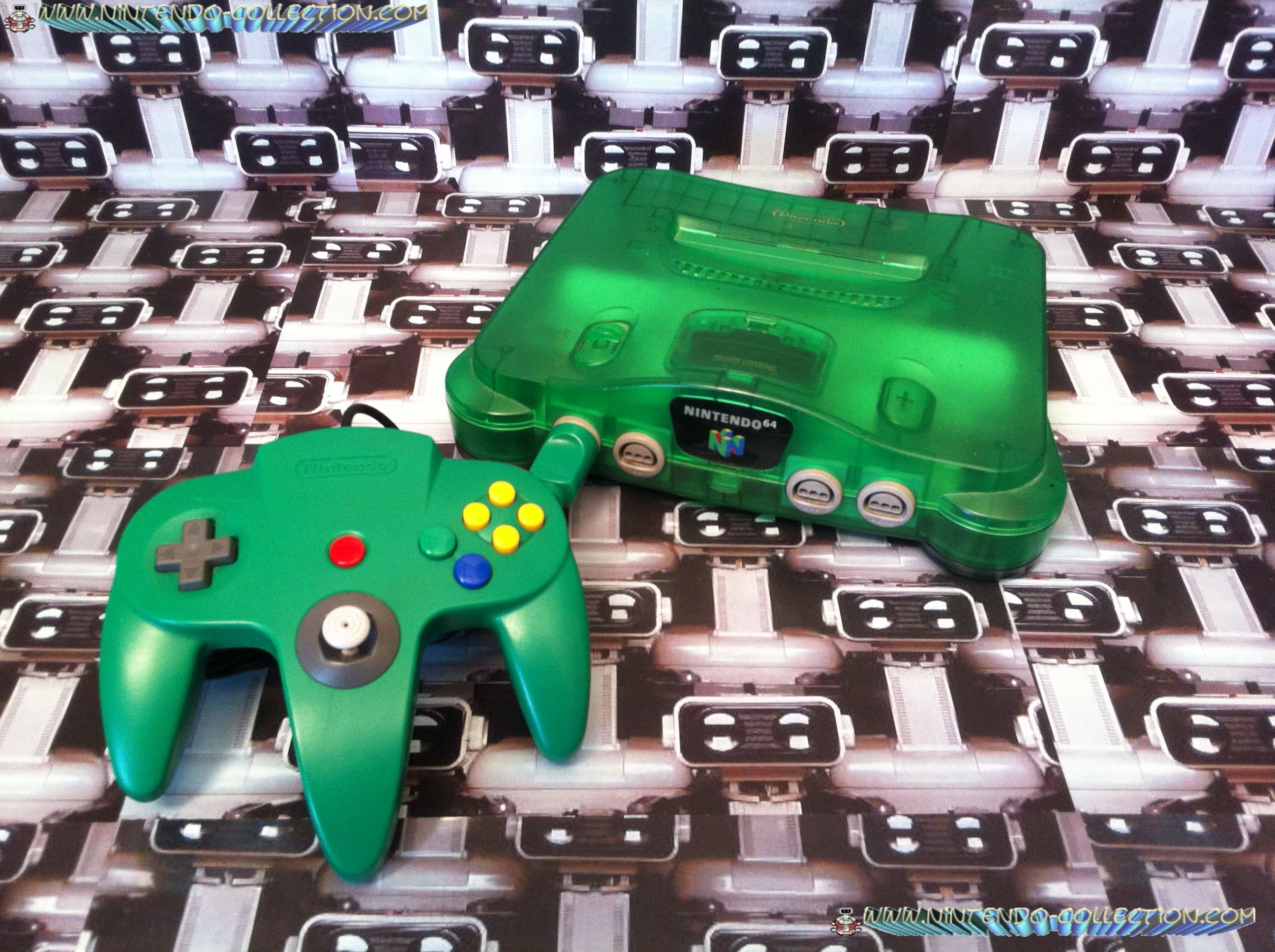 www.nintendo-collection.com - Nintendo 64 N64 Clear Green - Verte transparente - Funtastic