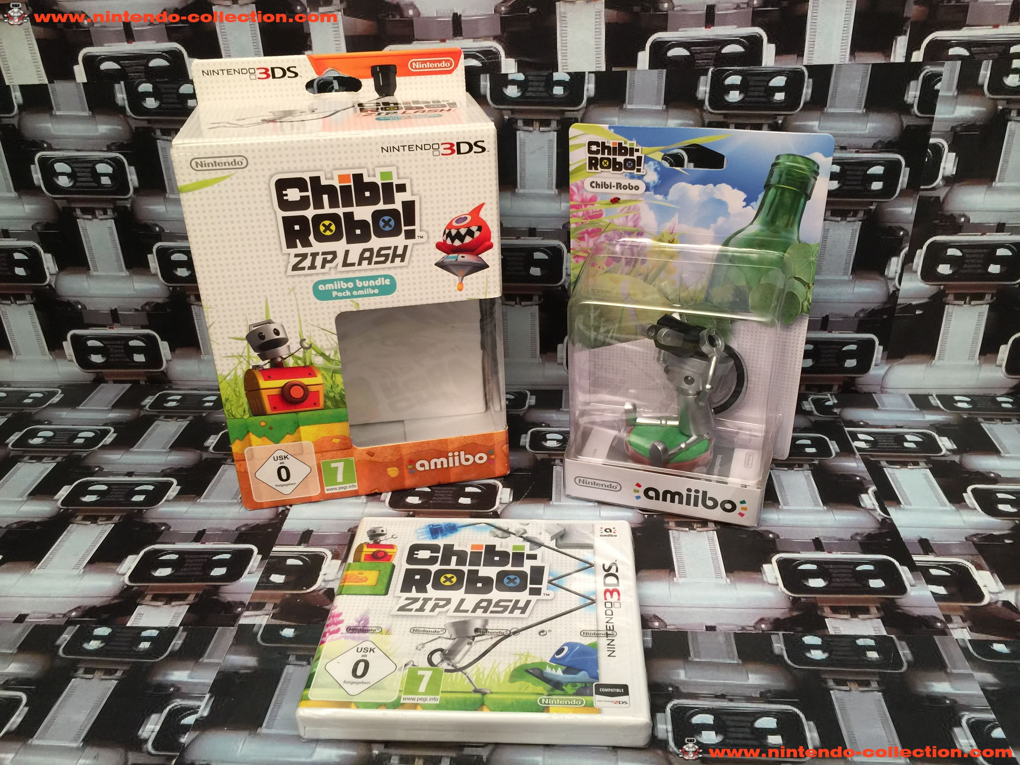 www.nintendo-collection.com - Nintendo 3DS Jeux Game Collector pack Chibi-Robo! Zip Lash Amiibo Bund