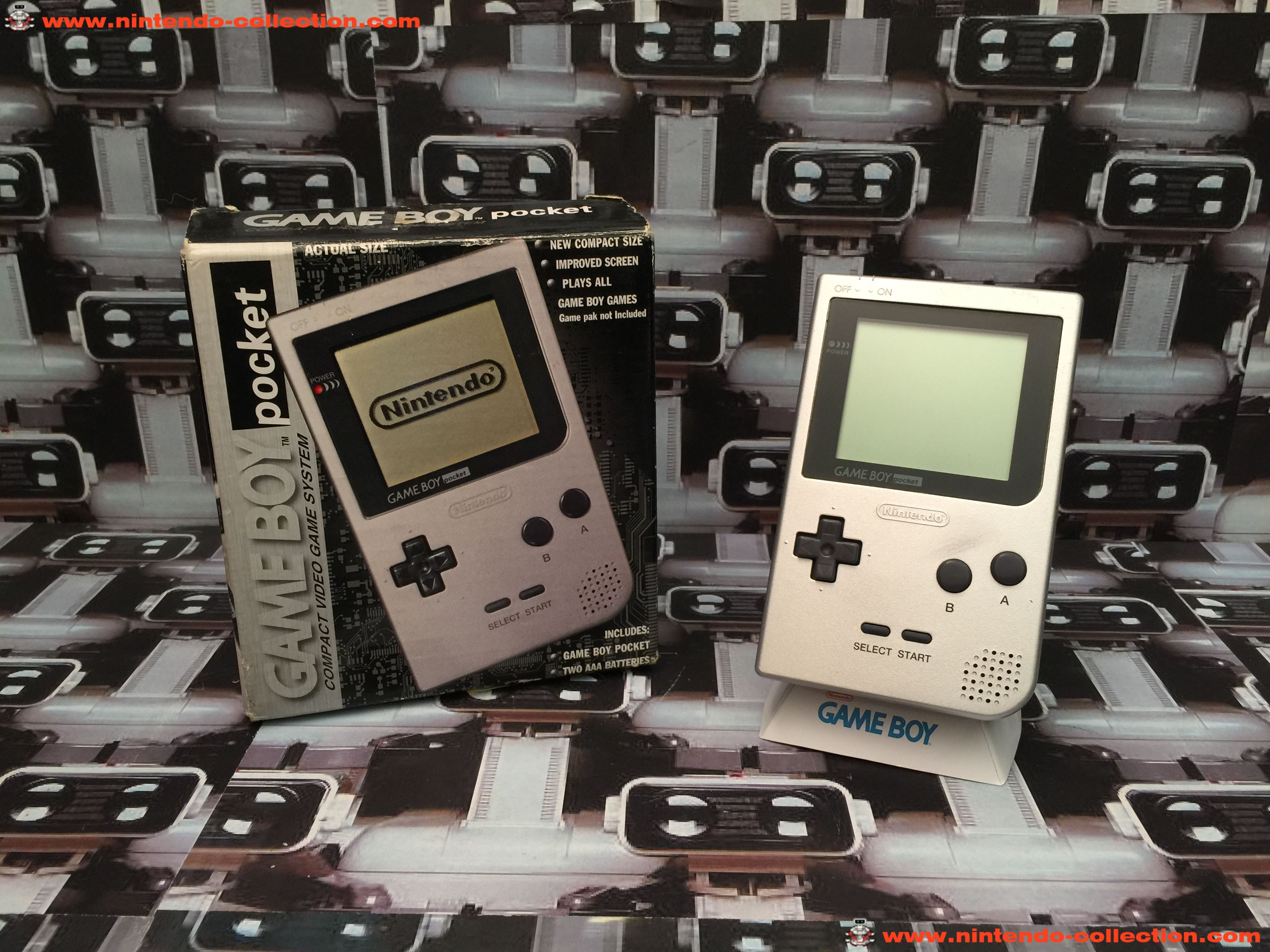 www.nintendo-collection.com - Gameboy GB Pocket Silver Argent en boite in box European Europe