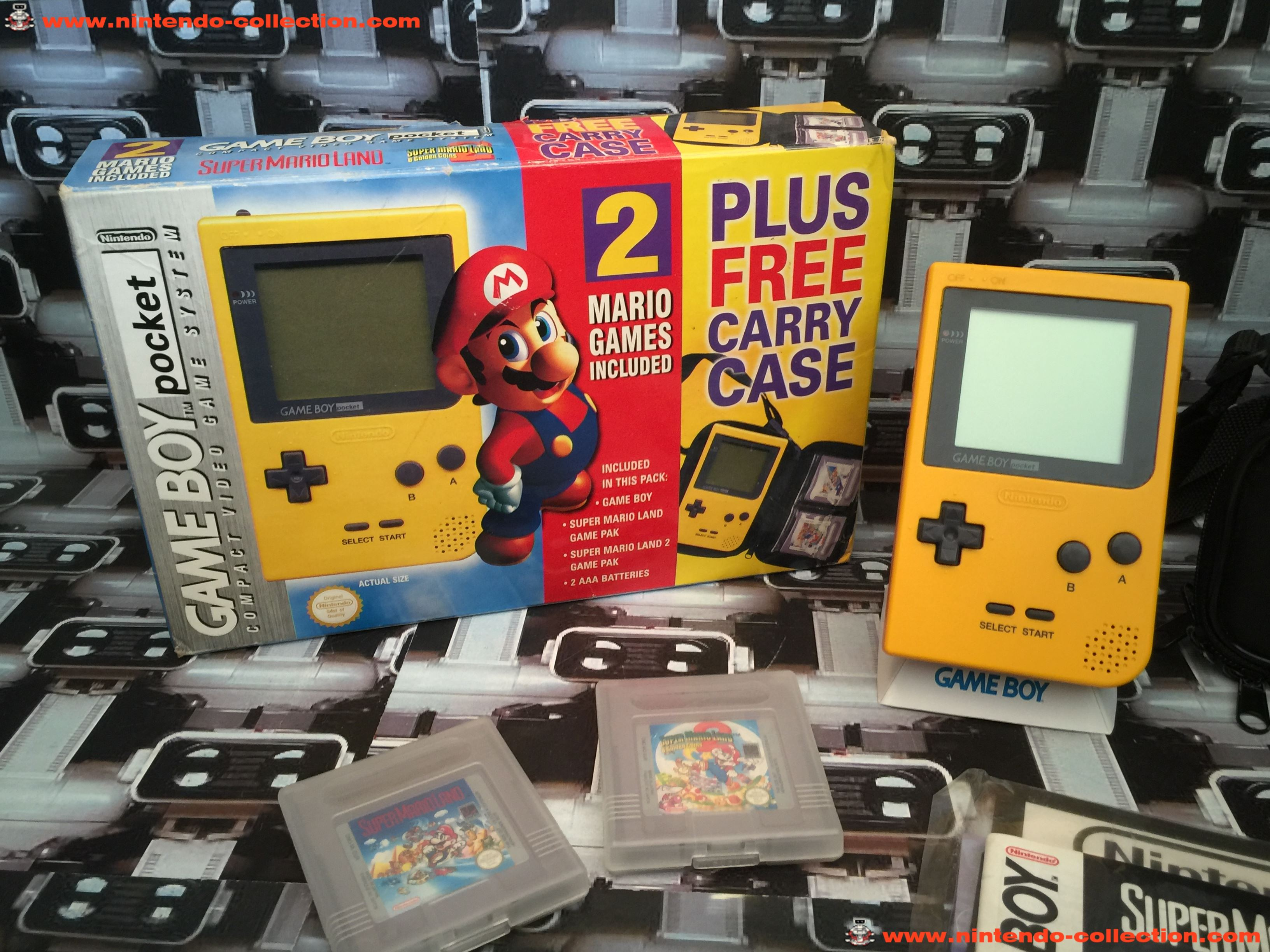 www.nintendo-collection.com - Gameboy Yellow jaune Pack Mario UK version united Kingdom - 02