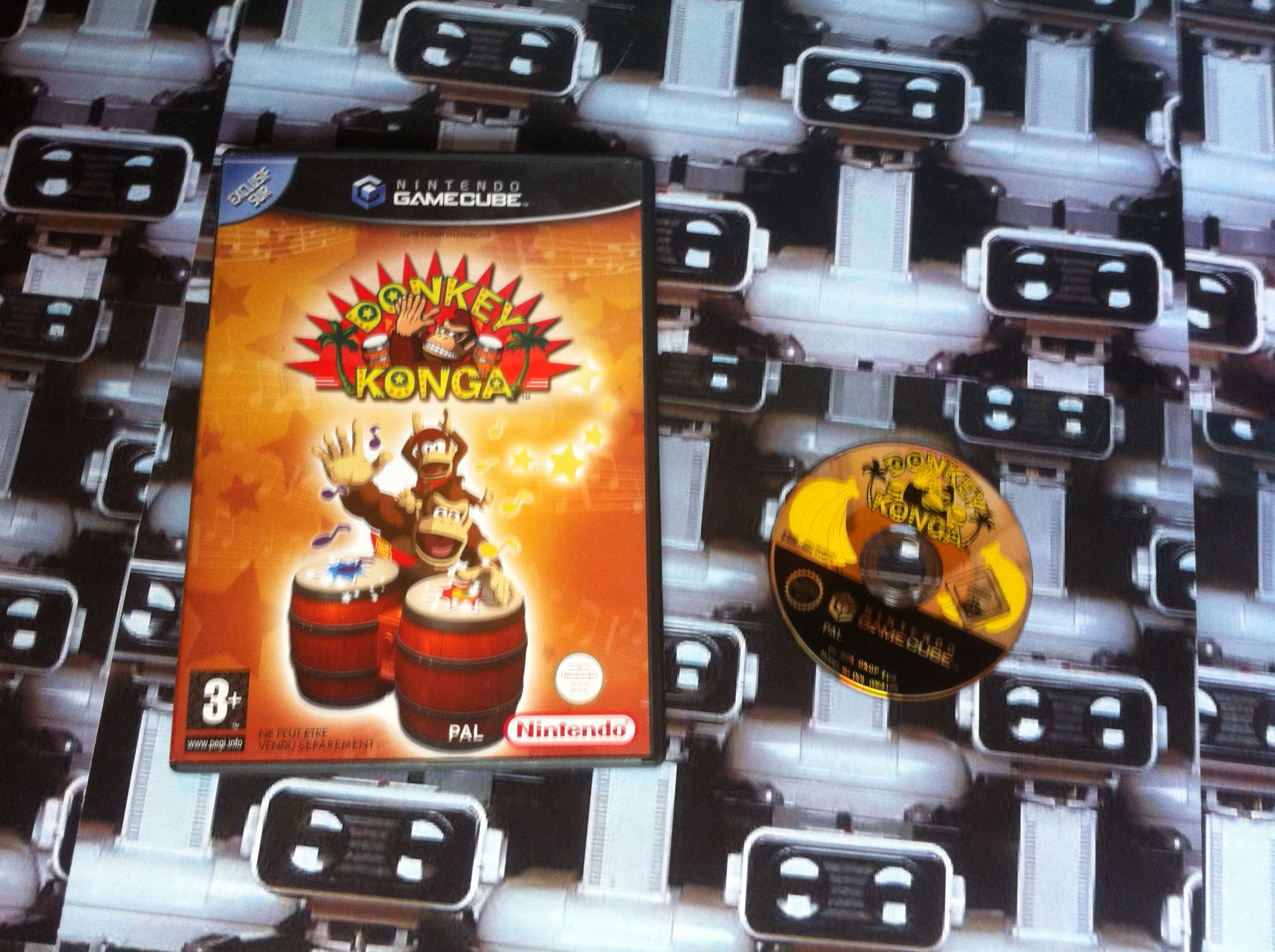 www.nintendo-collection.com - Gamecube  Game Jeux Donkey Konga european europeen