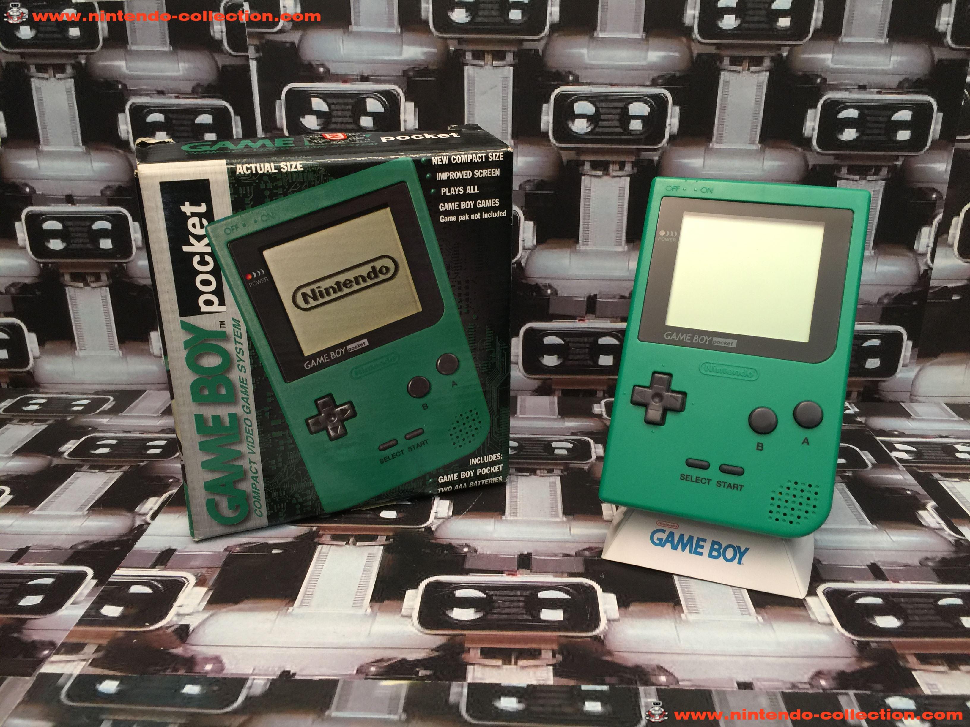 www.nintendo-collection.com - Gameboy GB Pocket Green Verte en boite in box European Europe