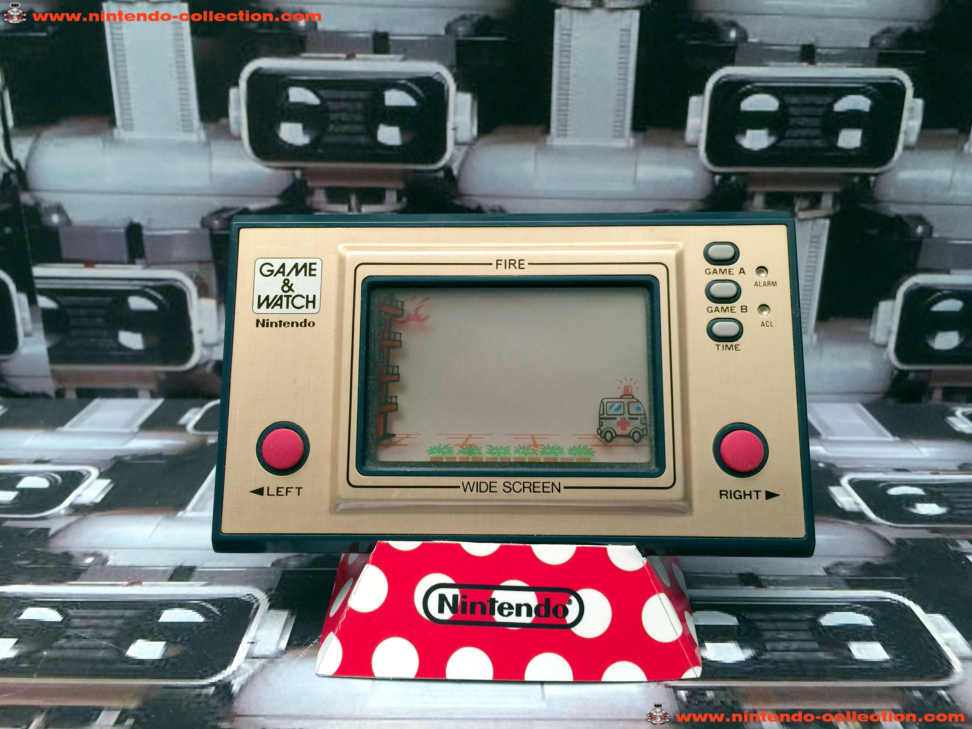 www.nintendo-collection.com - Game & Watch Wide Screen Fire