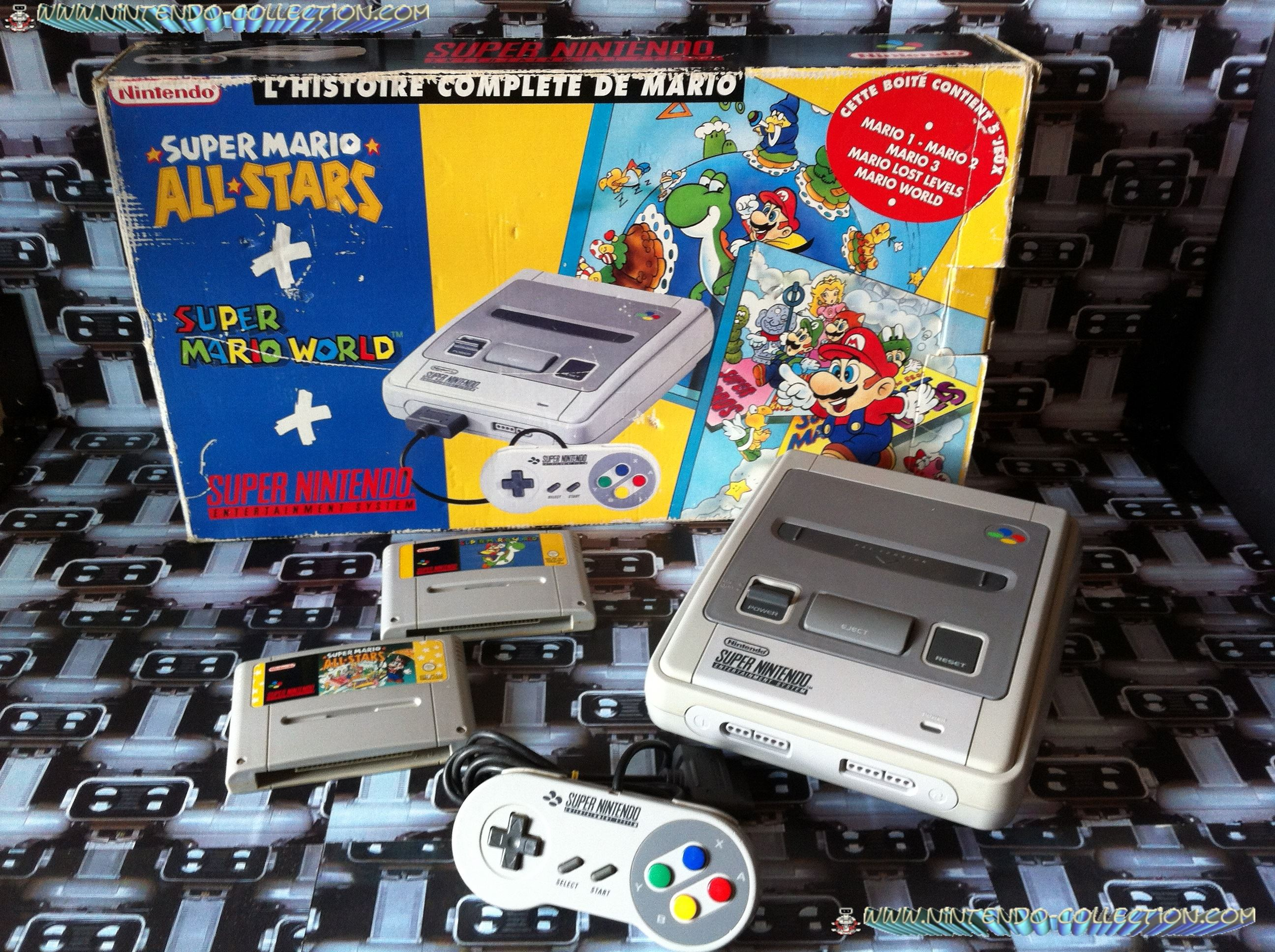 www.nintendo-collection.com - Super Nintendo Super Famicom Super Nes Pack Super Mario All Stars Supe