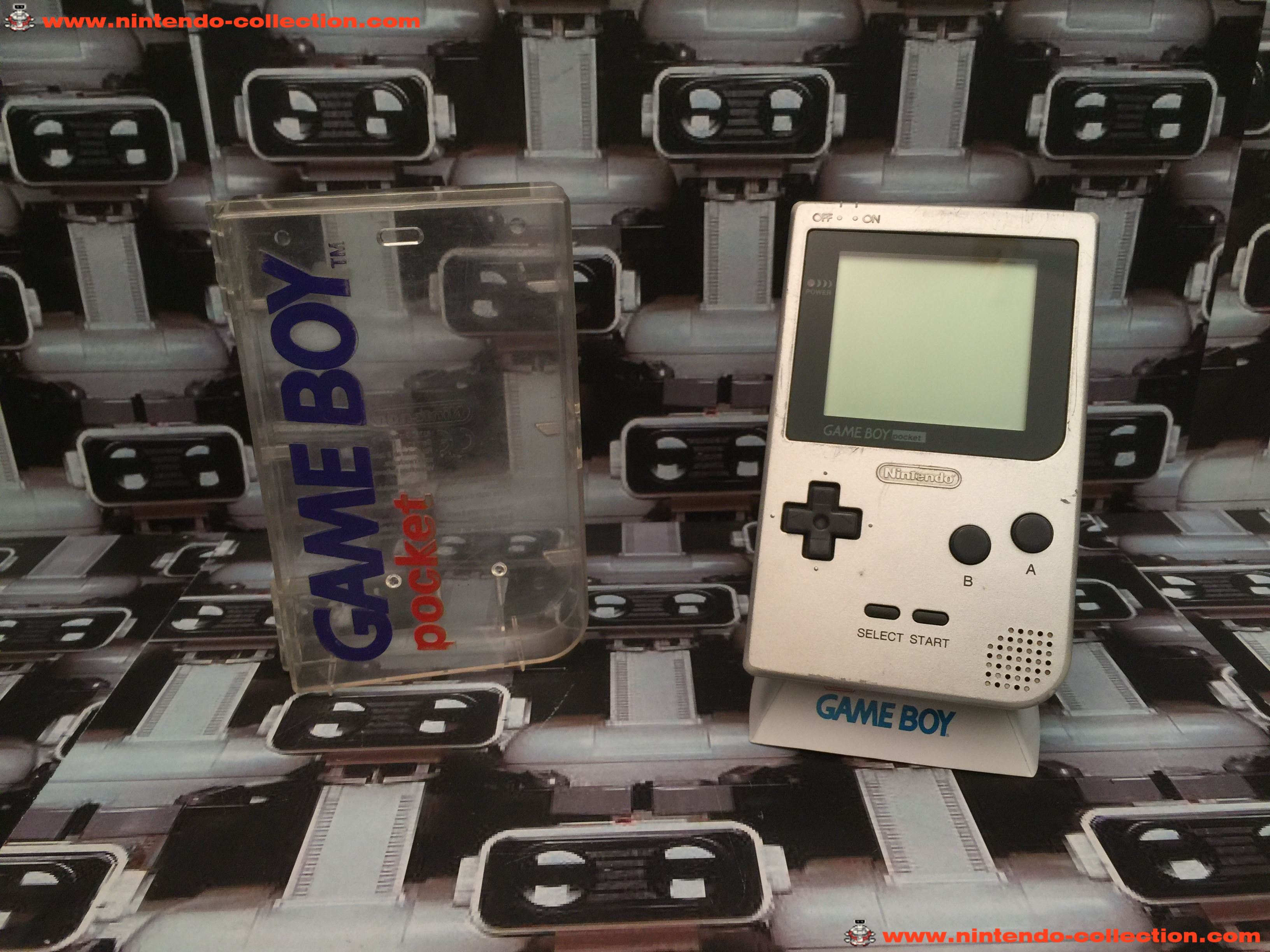 www.nintendo-collection.com - Gameboy Pocket GB Silver Argent Grise Crystal Box - 01