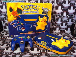 www.nintendo-collection.com - Nintendo 64 N64 Pokemon Pikachu edition Blue and Yellow - Bleue et jau