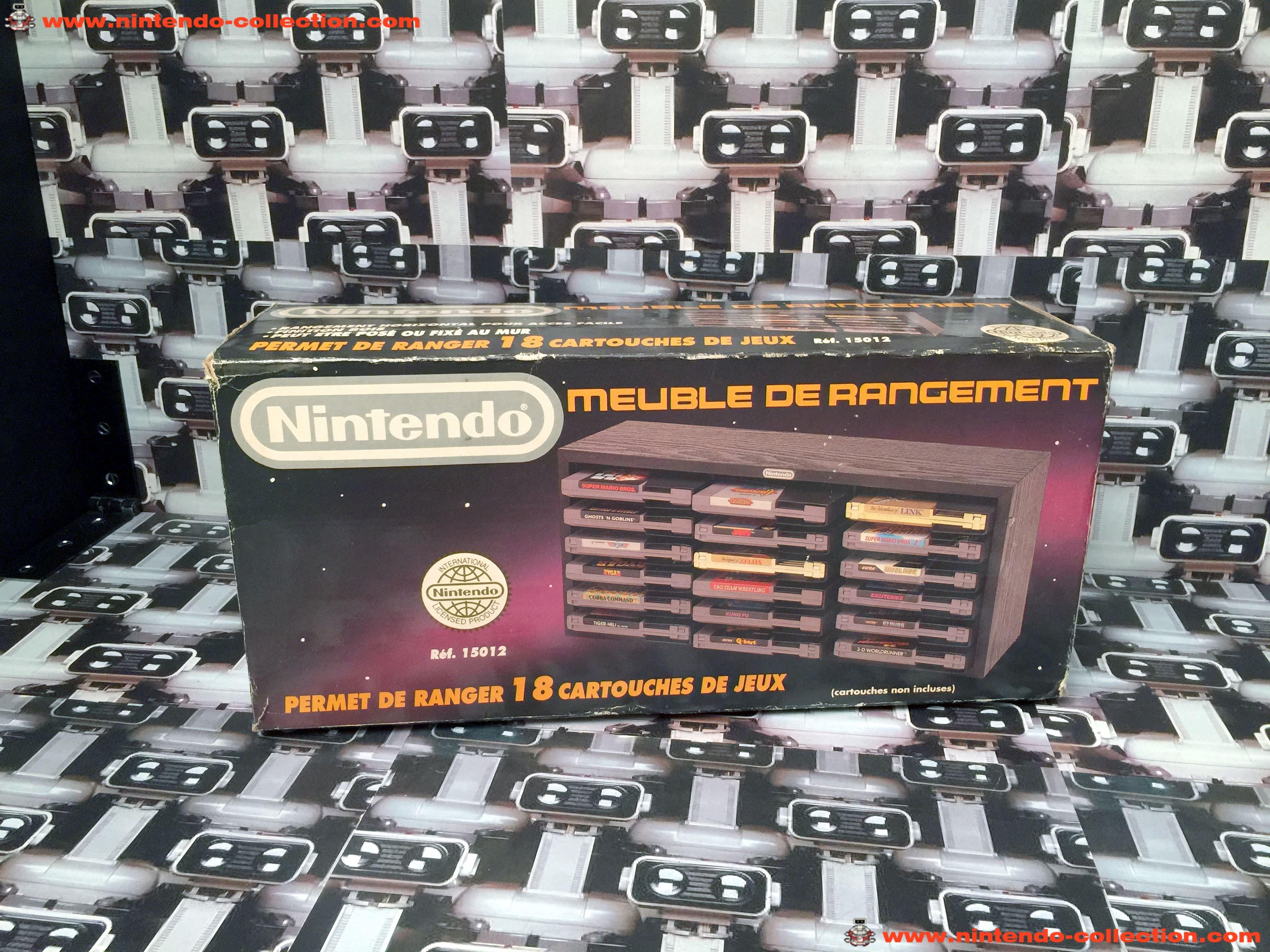 www.nintendo-collection.com - Nintendo NES accessory Accessoire Meuble de Rangement - 01