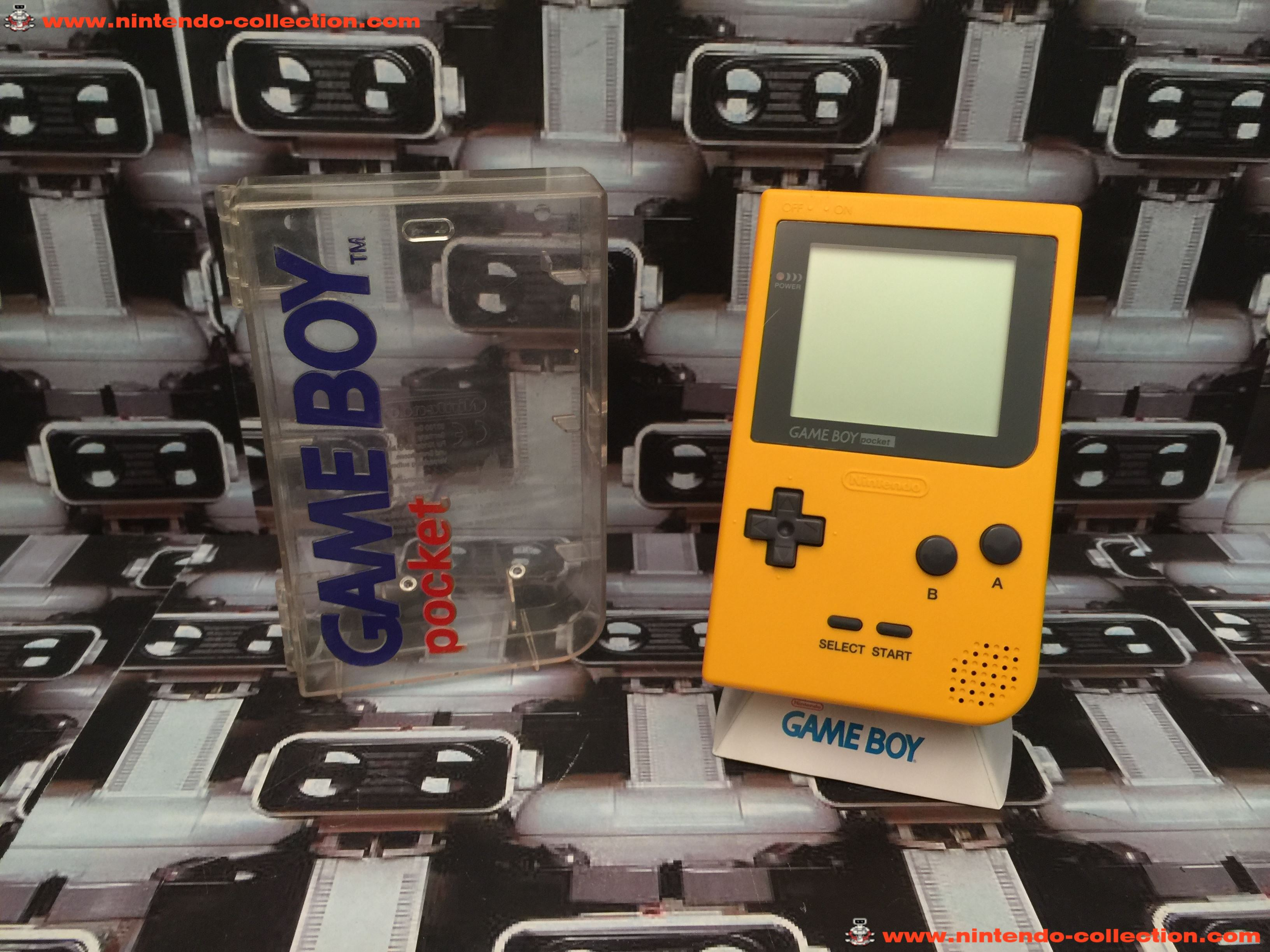 www.nintendo-collection.com - Gameboy Pocket GB Yellow Jaune Crystal Box - 01