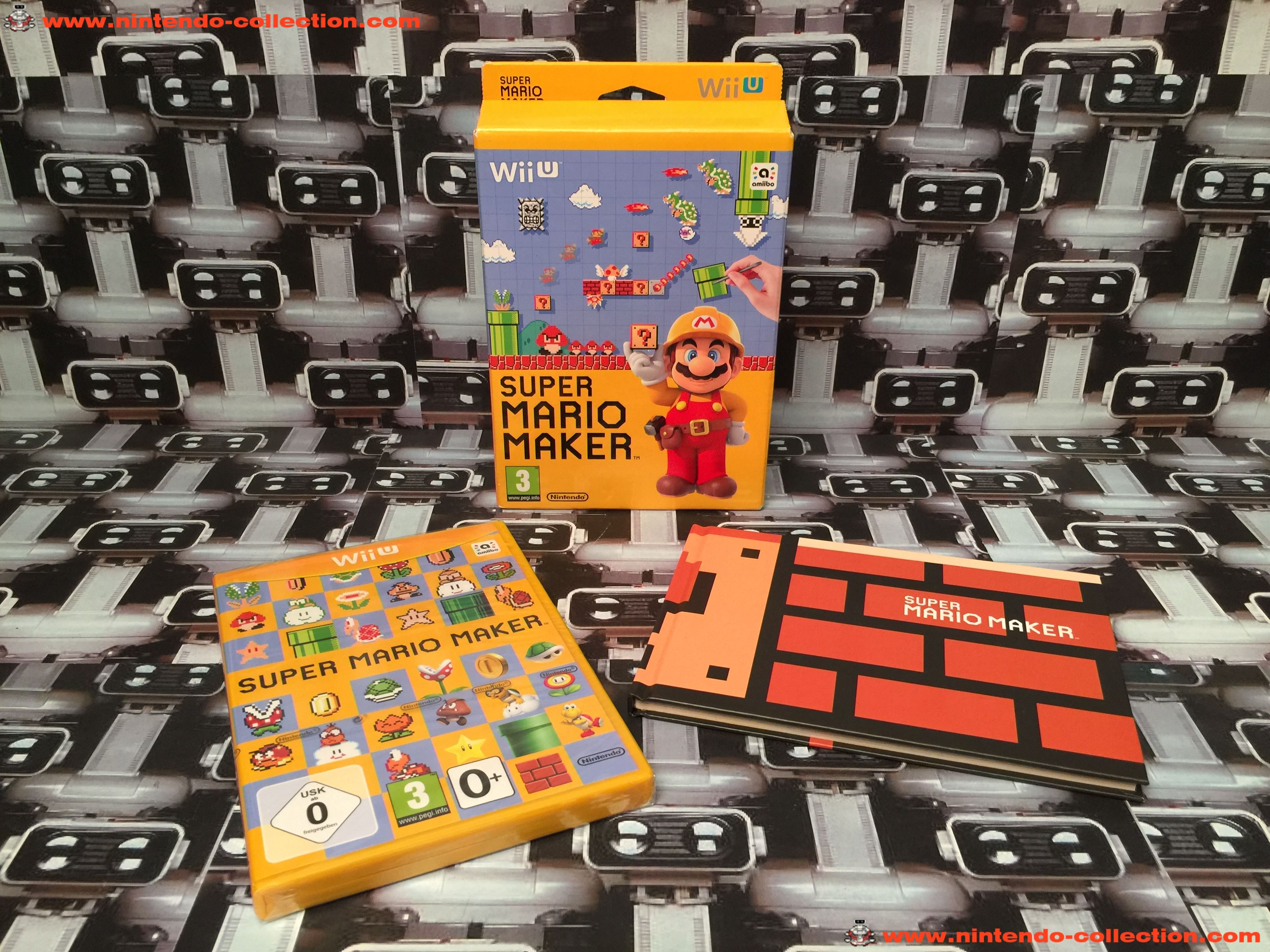 www.nintendo-collection.com - Wii U Game Jeux Super Mario Maker limited edition Mario 30th - 02