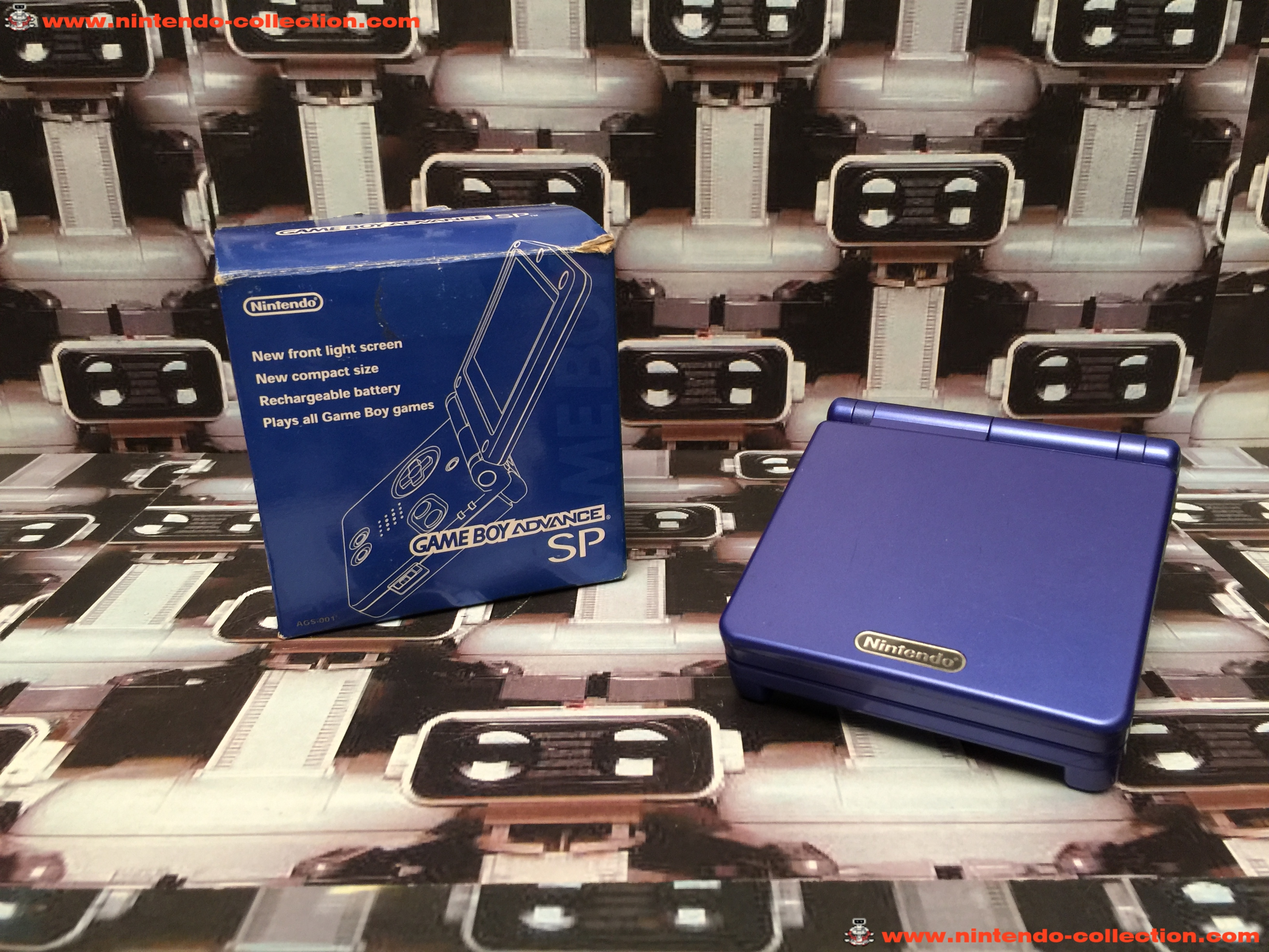 www.nintendo-collection.com - Gameboy Advance GBA SP Blue Bleu Edition Japan Japanese Japonaise vers