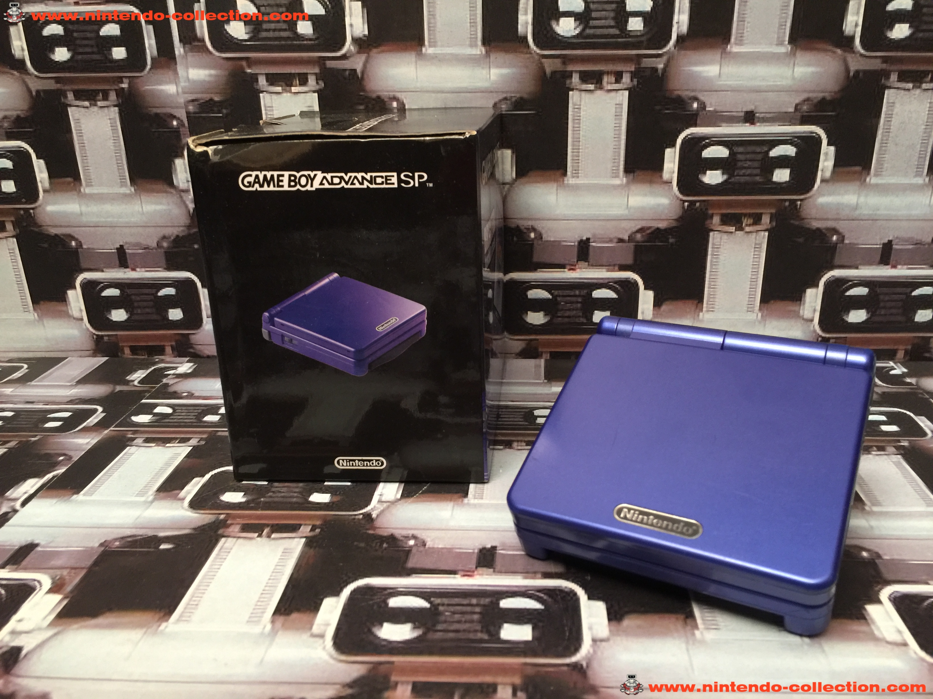 www.nintendo-collection.com - Gameboy Advance GBA SP Blue Bleu edition Singapour Singapore - 02