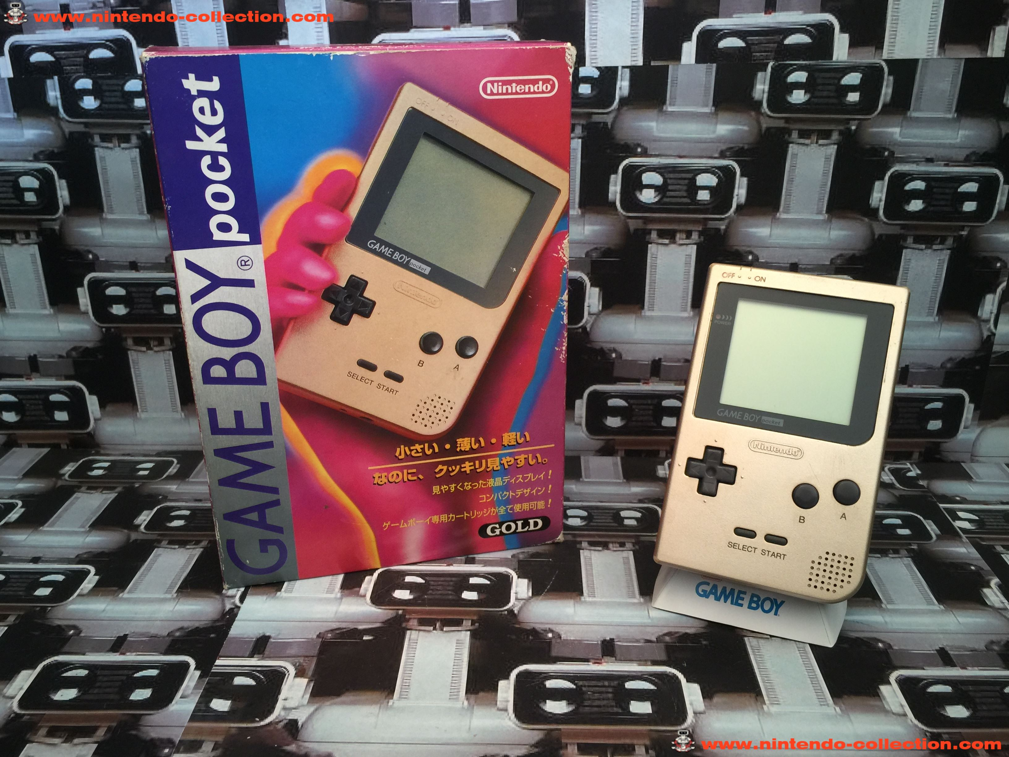 www.nintendo-collection.com - Gameboy GB Pocket Gold en boite in box Japan - 01