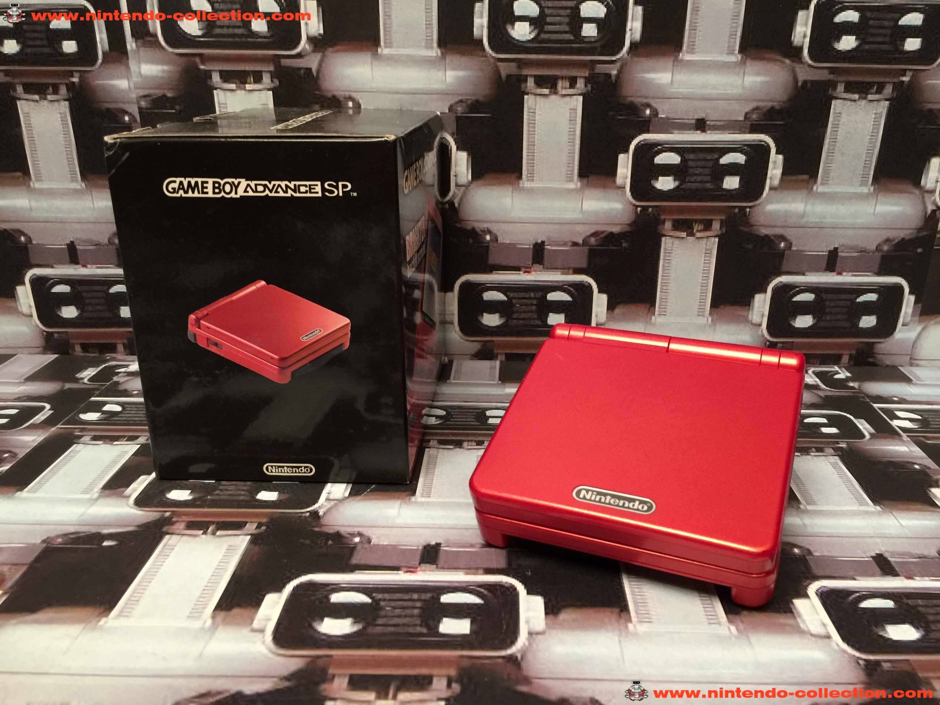 www.nintendo-collection.com - Gameboy Advance GBA SP Rouge Red edition Singapour Singapore - 02