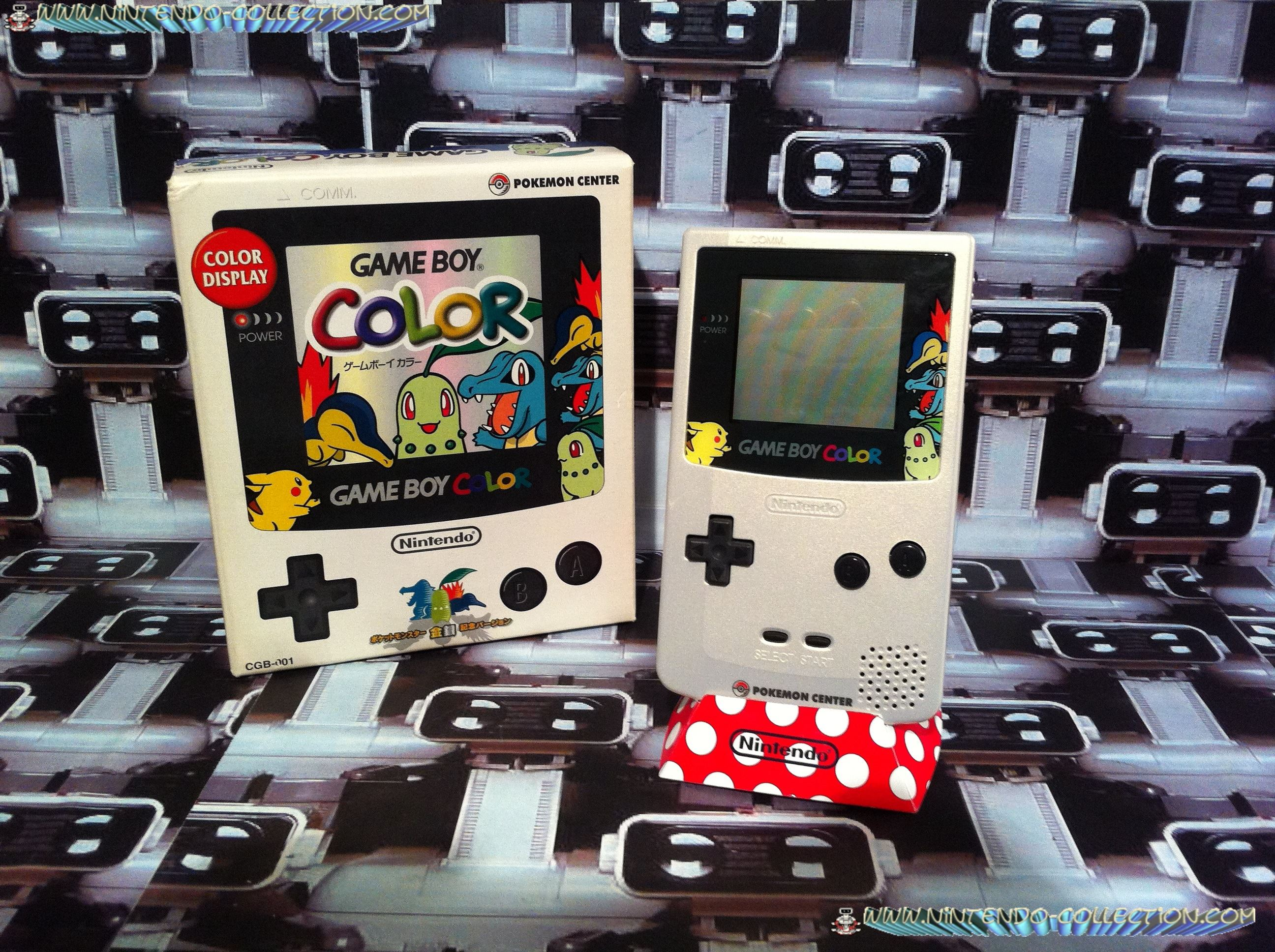 www.nintendo-collection.com - Gameboy Color Pokemon Gold Silver Or Argent edition pokemon center Jap