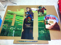 www.nintendo-collection.com - Borne 3DS XL LL Kit Zelda - 3DS XL LL Demo store display kiosk Zelda K
