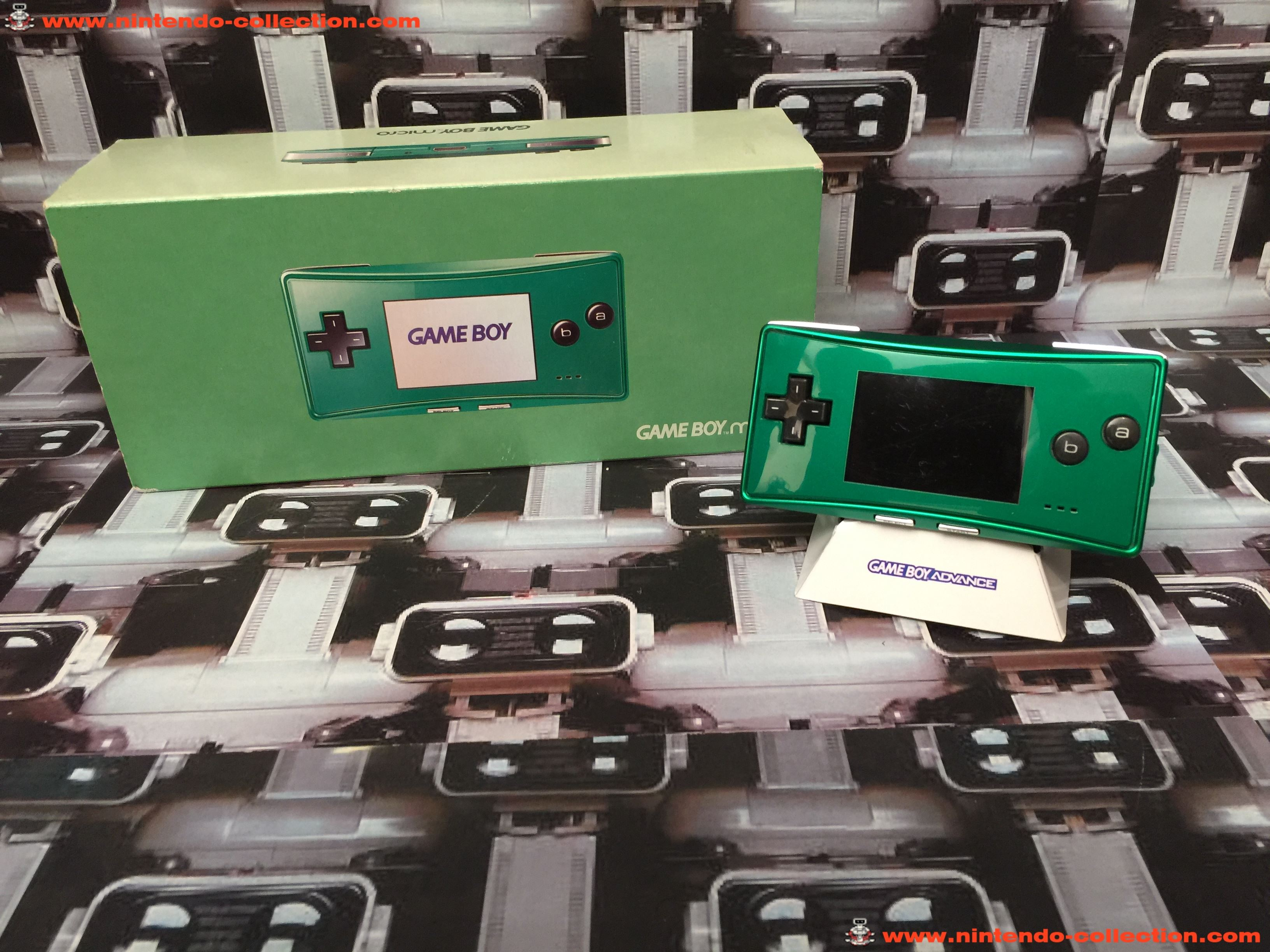 www.nintendo-collection.com - Gameboy Advance GBA Micro Green Verte european version europeenne vers