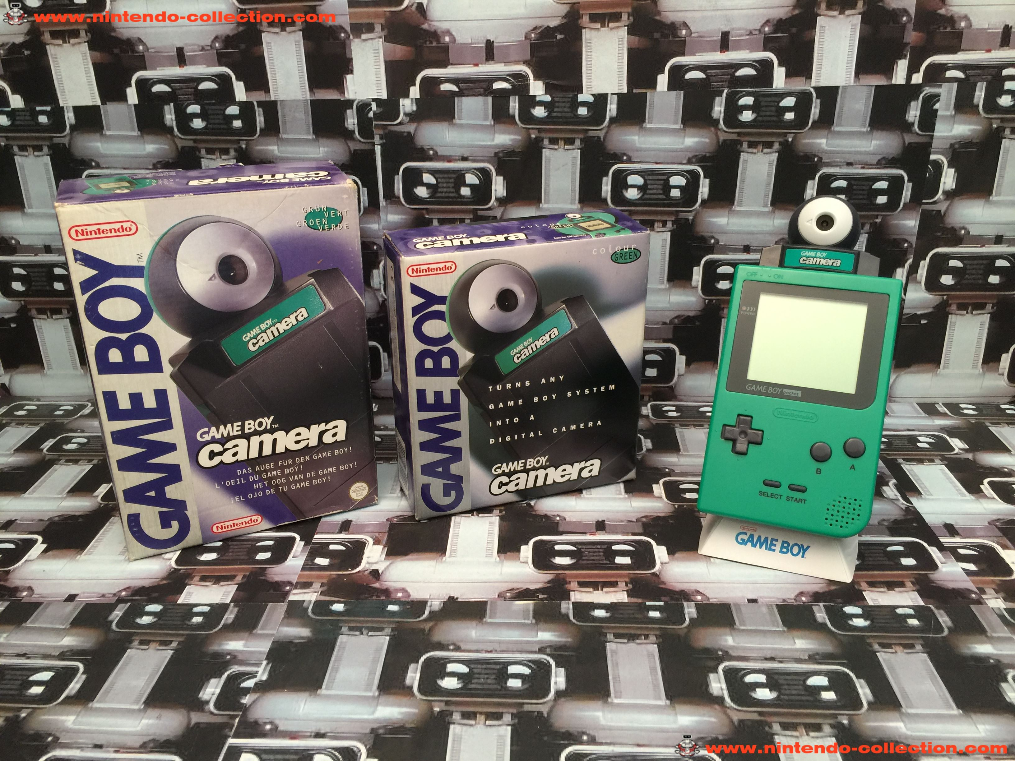www.nintendo-collection.com - GameBoy Pocket + GameBoy Camera Green Verte UK Version Royaume-Uni + E
