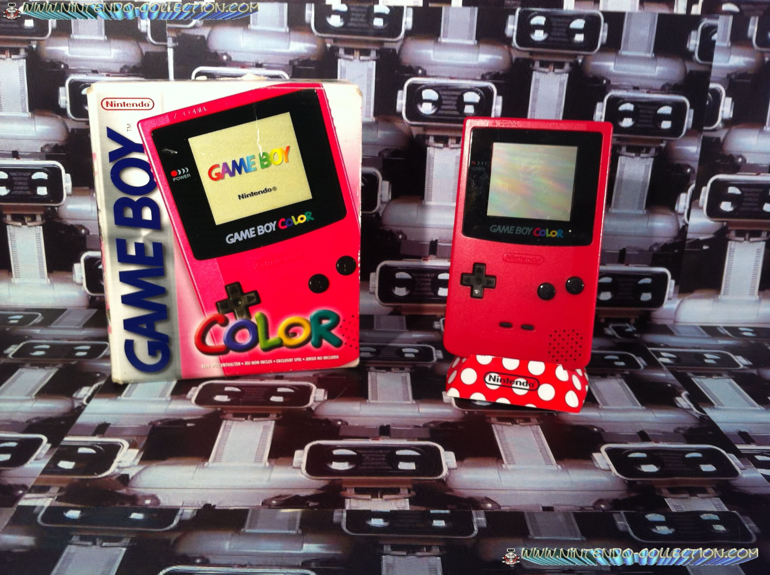 www.nintendo-collection.com - Gameboy Color Rouge Diablotin Red edition european europe