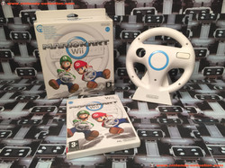 www.nintendo-collection.com - Nintendo Wii Game Jeux Mario Kart Pack Wii Wheel Euro