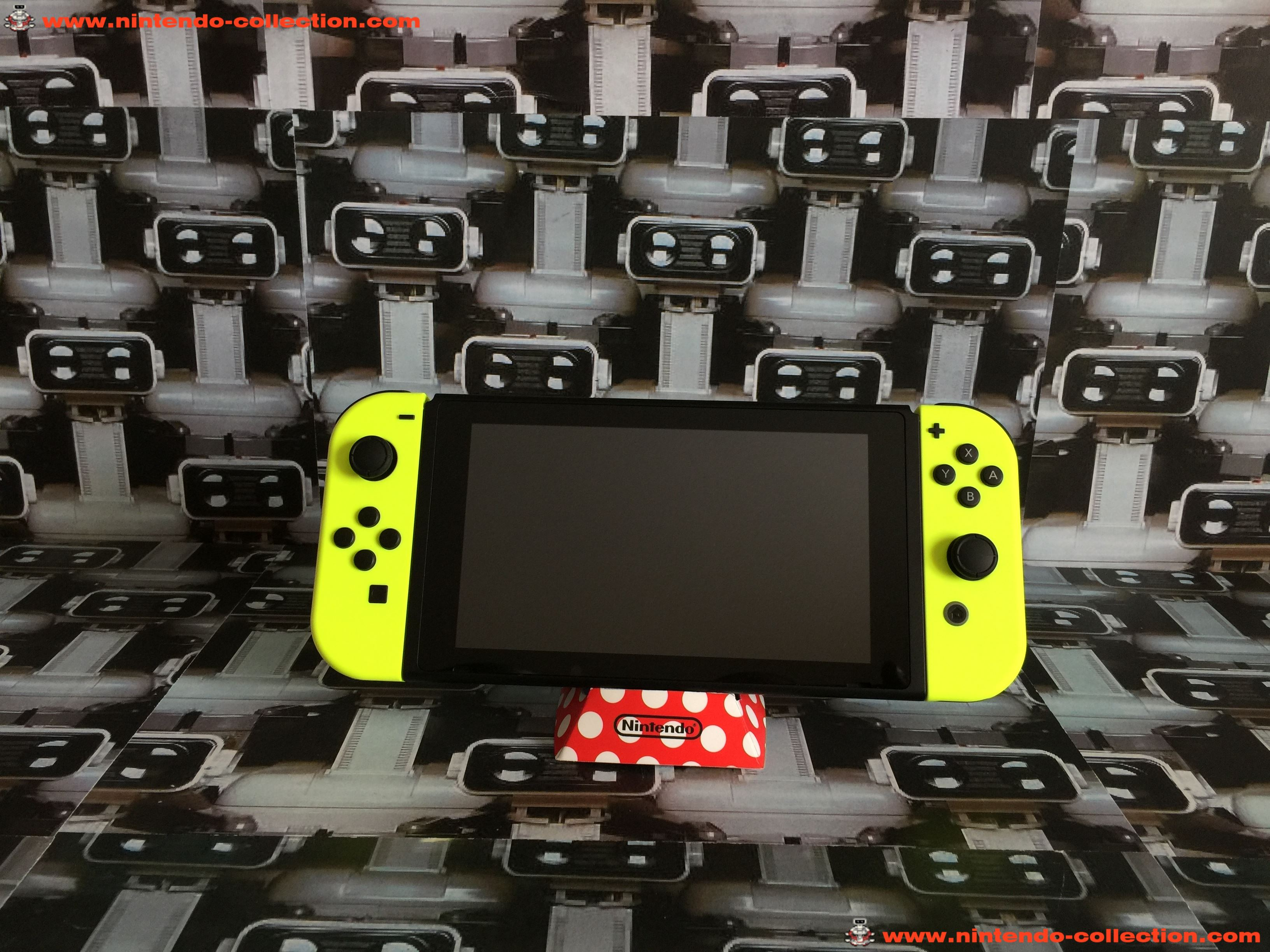 www.nintendo-collection.com - Nintendo Switch Joy-Con Pair Manette Neon Yellow Fluo - 04