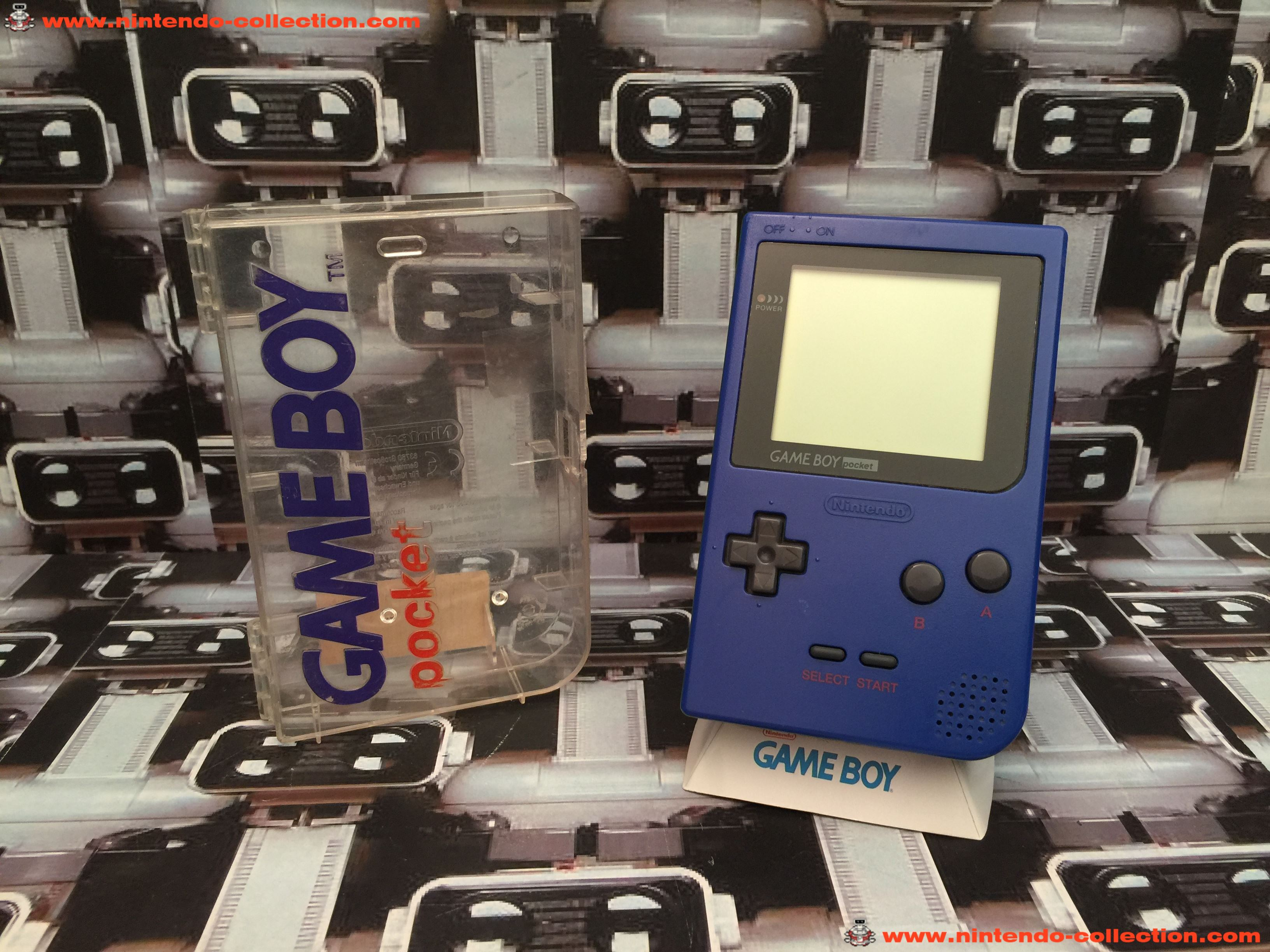 www.nintendo-collection.com - Gameboy Pocket GB Blue Bleu Crystal Box - 01