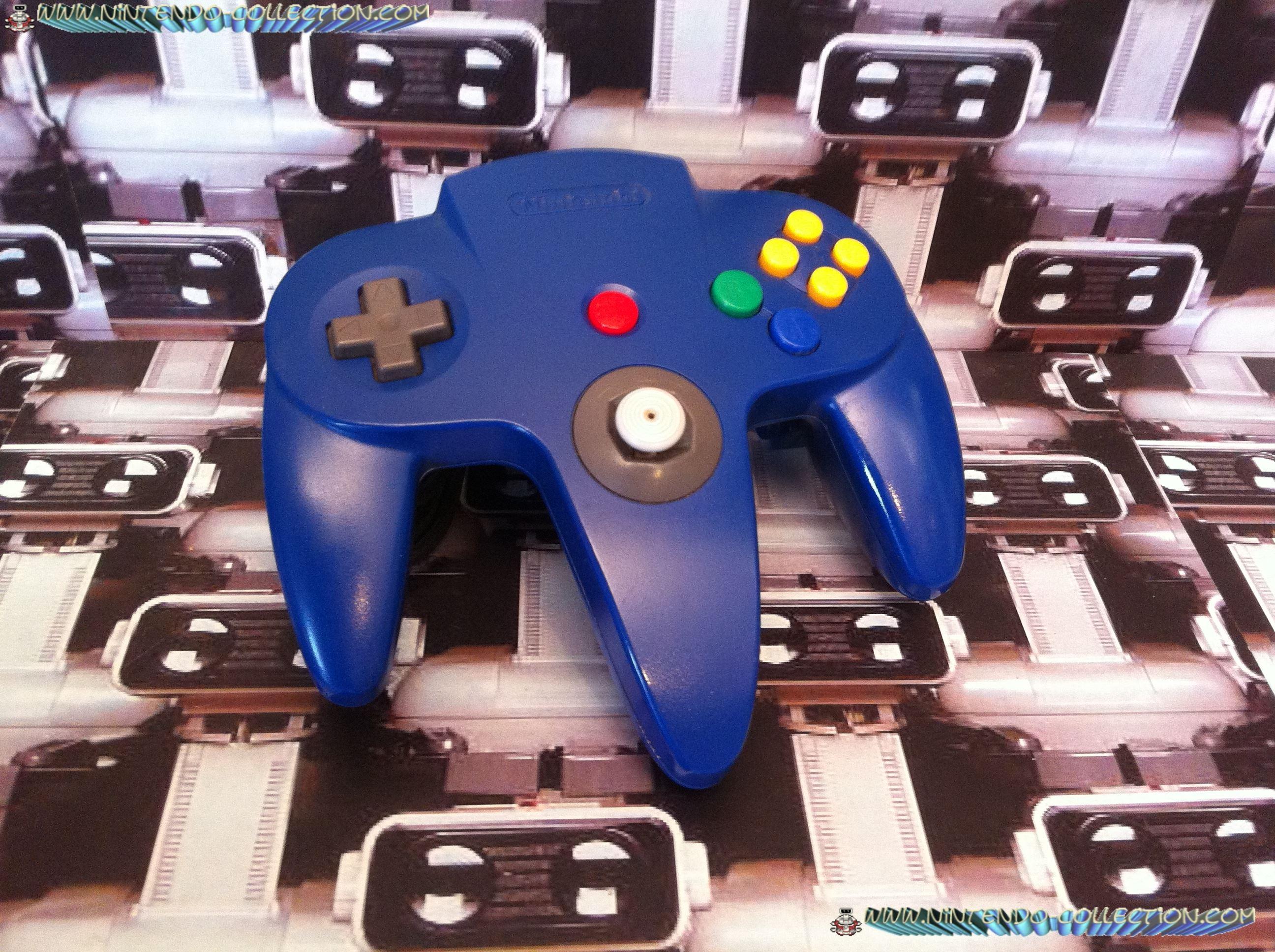 www.nintendo-collection.com  - Nintendo N64 Controller blue - Manette  bleue