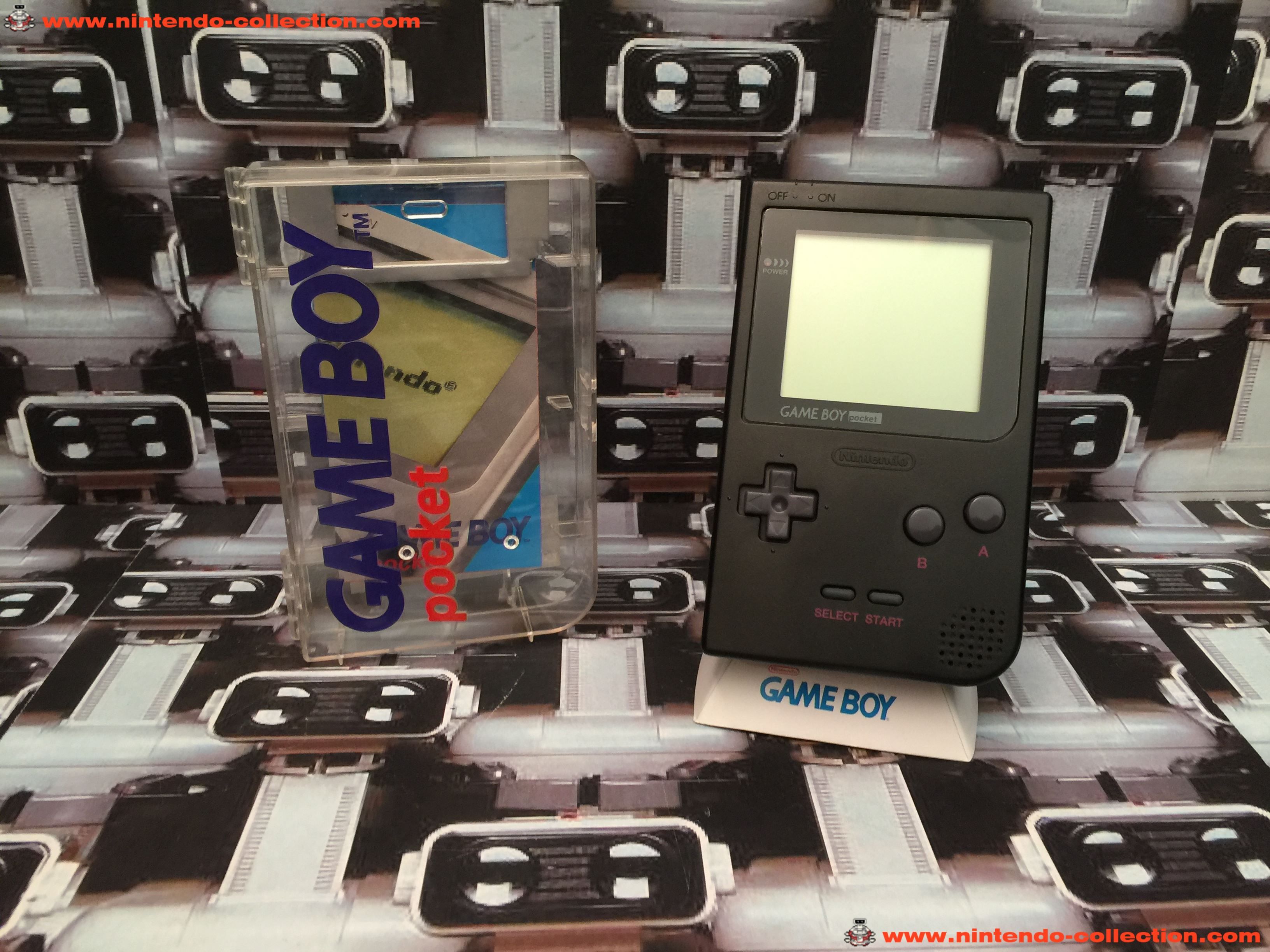 www.nintendo-collection.com - Gameboy Pocket GB Black Noir Crystal Box - 01