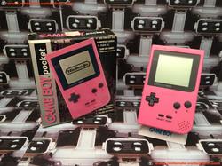 www.nintendo-collection.com - Gameboy GB Pocket Pink Rose en boite in box European Europe