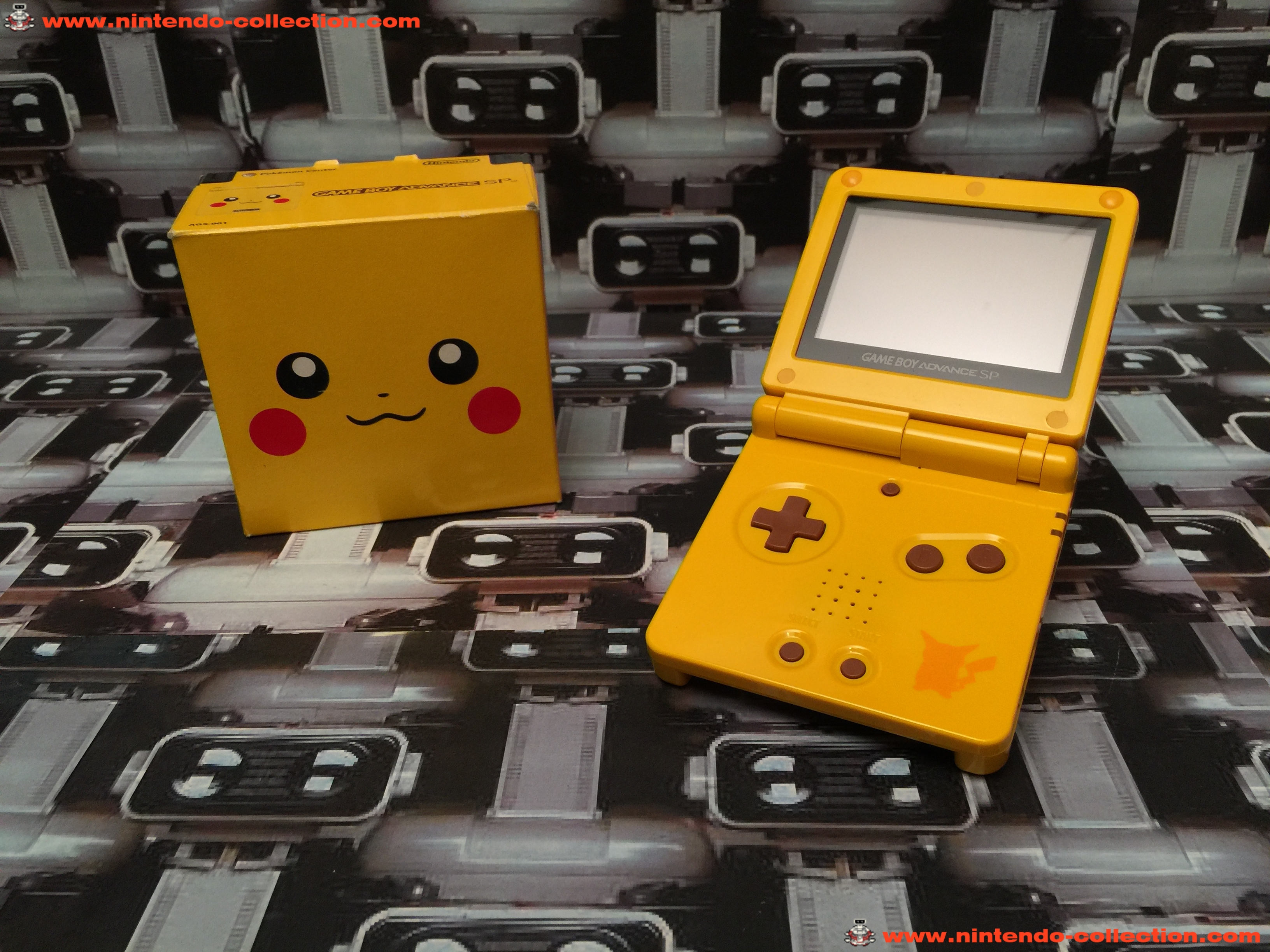 www.nintendo-collection.com - Gameboy Advance GBA SP Pikachu Limited Edition Pokemon center Japan Ja